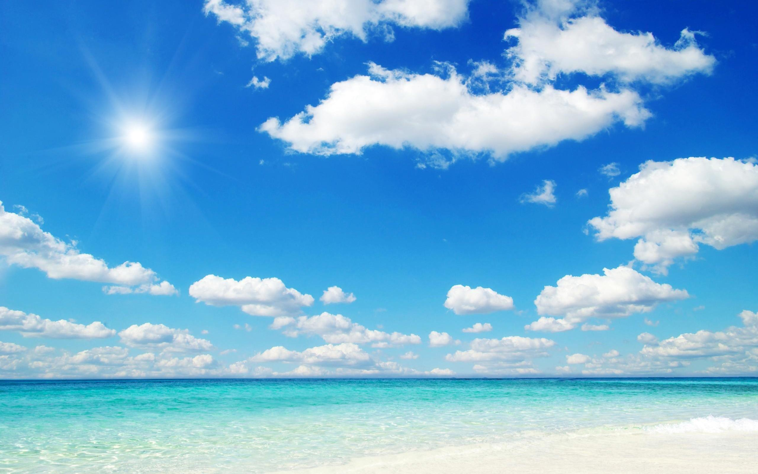 Beach blue sky wallpapers