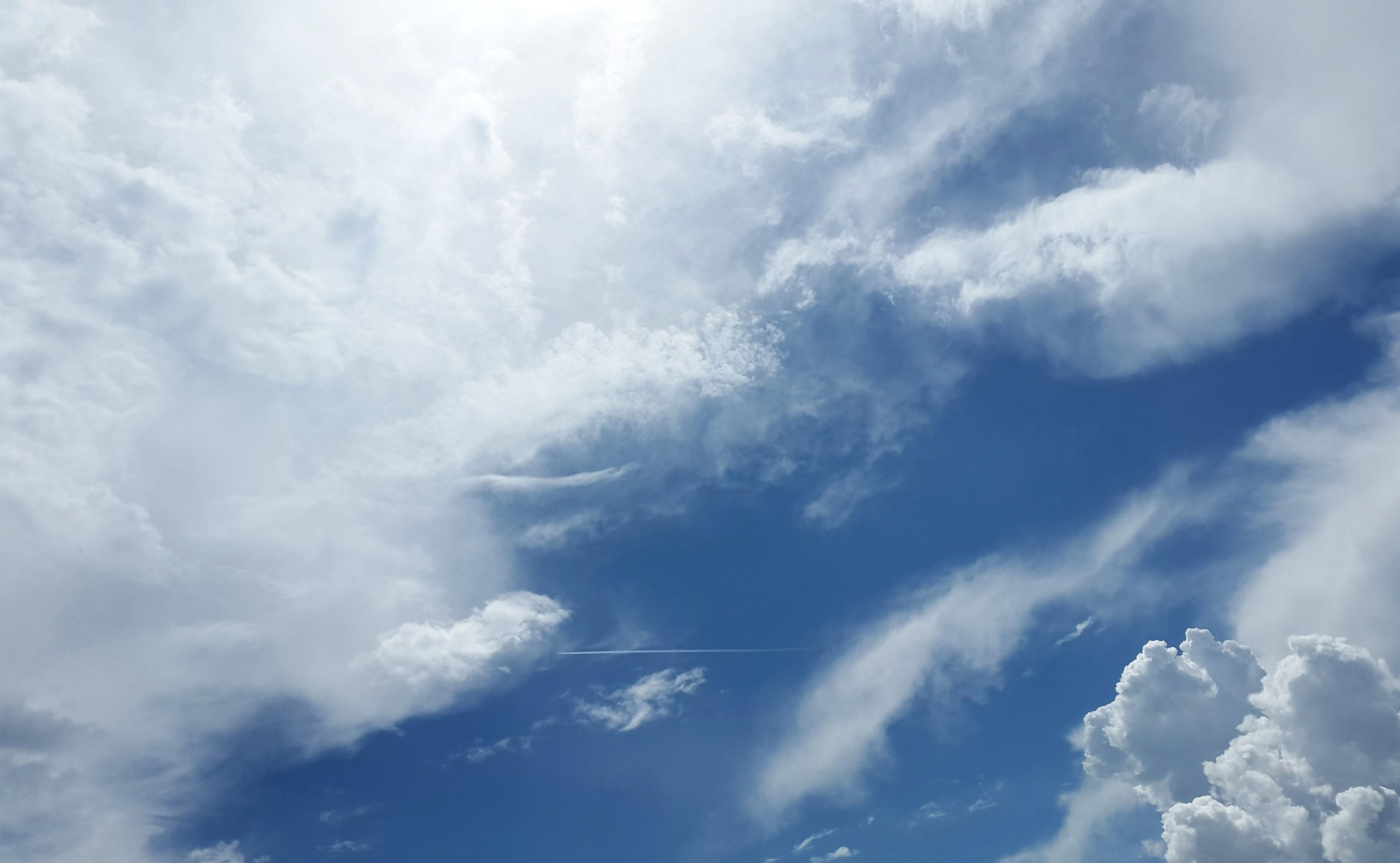 Download 3714x2289 Clouds, Blue Sky Wallpapers