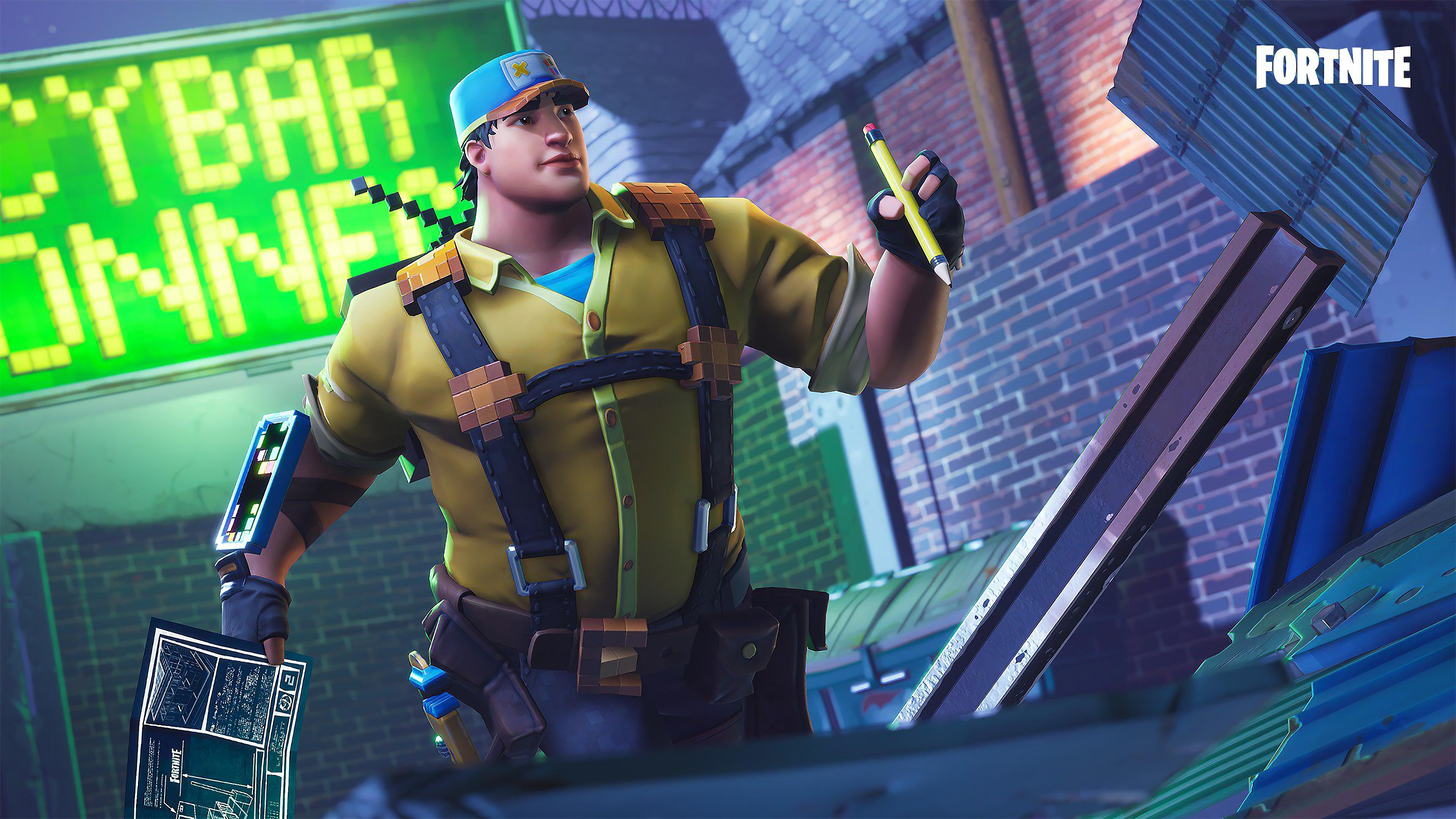 FORTNITE 8 BIT DEMO CONSTRUCTOR 4k Ultra HD Wallpapers