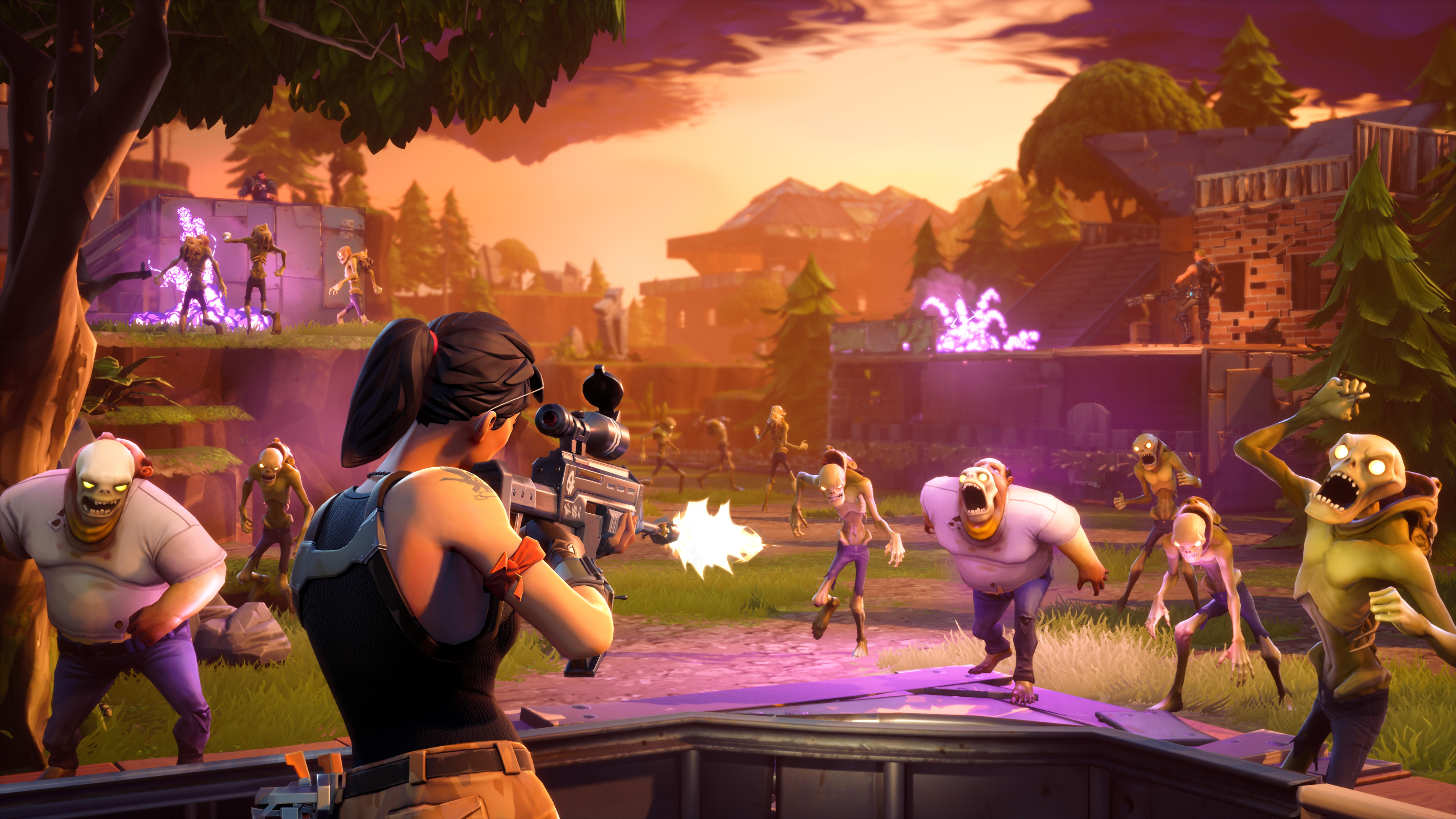 Enlarge / At its best, Fortnite looks (and feels) like this nicely staged  promo pic of in-game action. However, so many free-to-play annoyances drag  this  ... - Fortnite poisons a potentially great game with agonizing F2P limits ... - Husk Monsters Fortnite Wallpapers