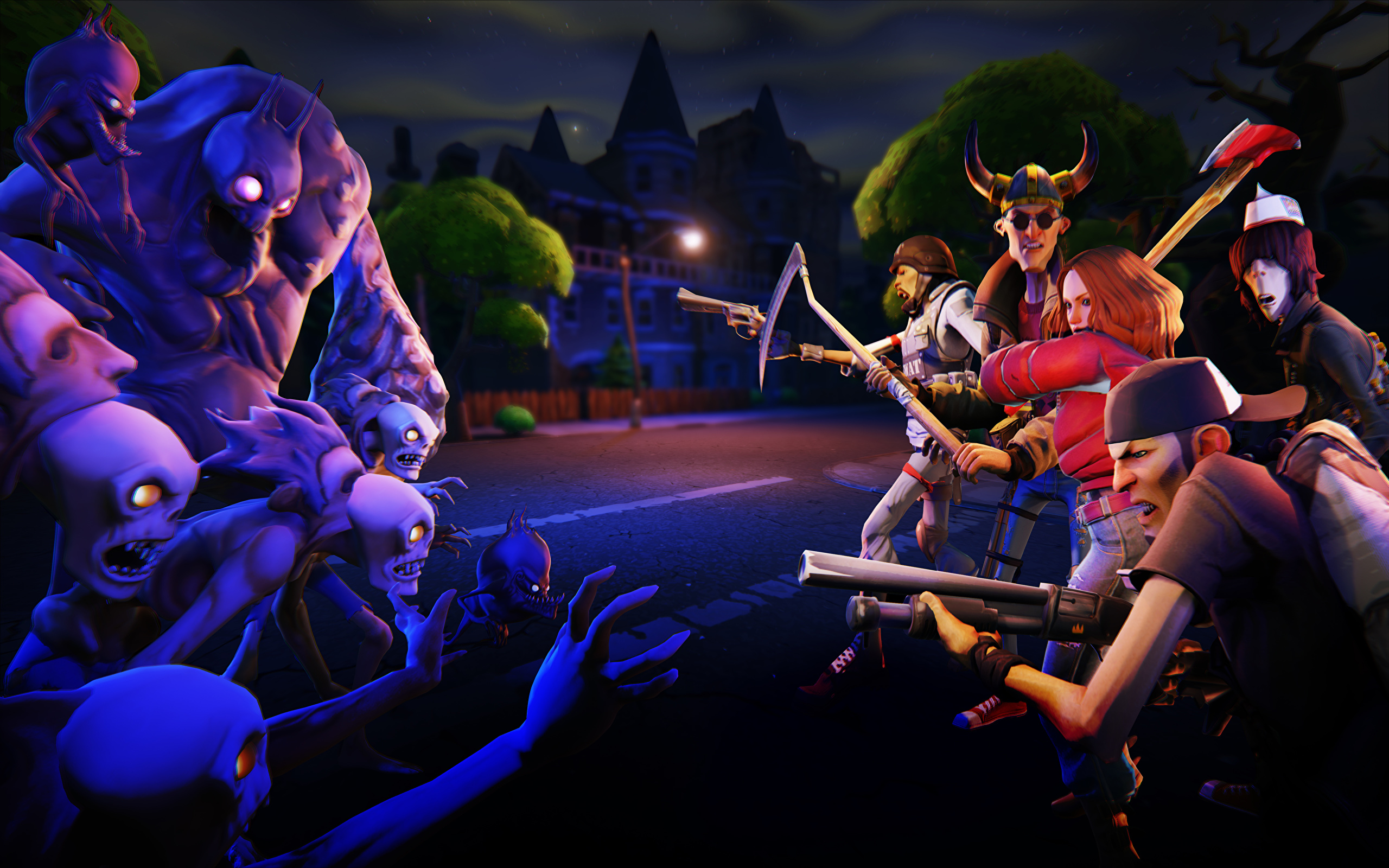 Wallpapers Monsters Fortnite Epic Games Survival sandbox 2560x1600