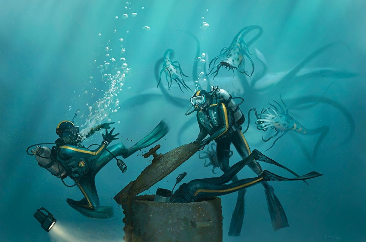 Wallpapers Underwater diving Fantasy