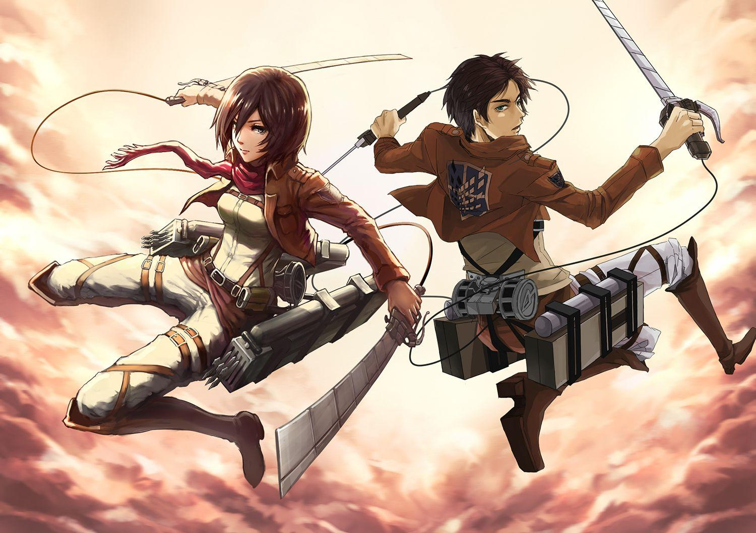 Attack On Titan Eren and Mikasa Wallpapers