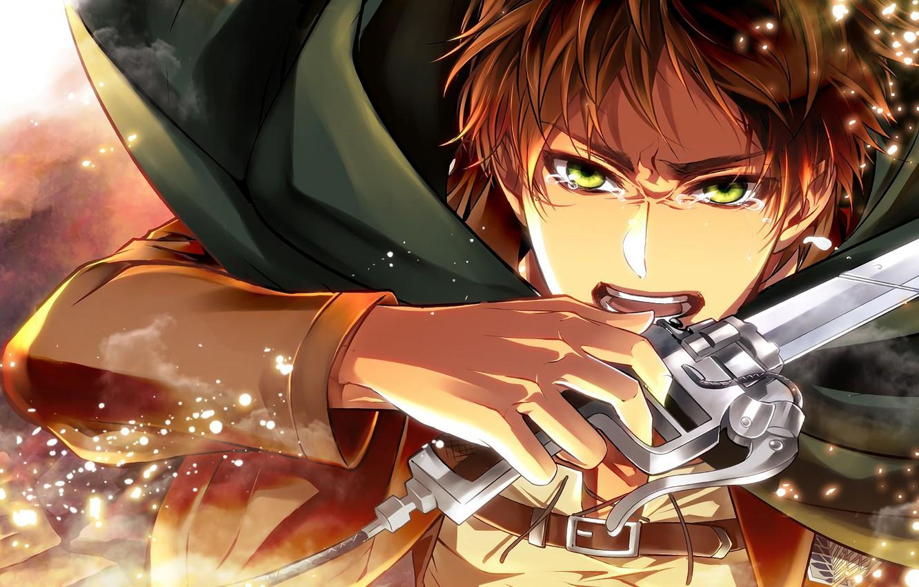 Wallpapers sword, blade, guy, Attack Of The Titans, Shingeki No