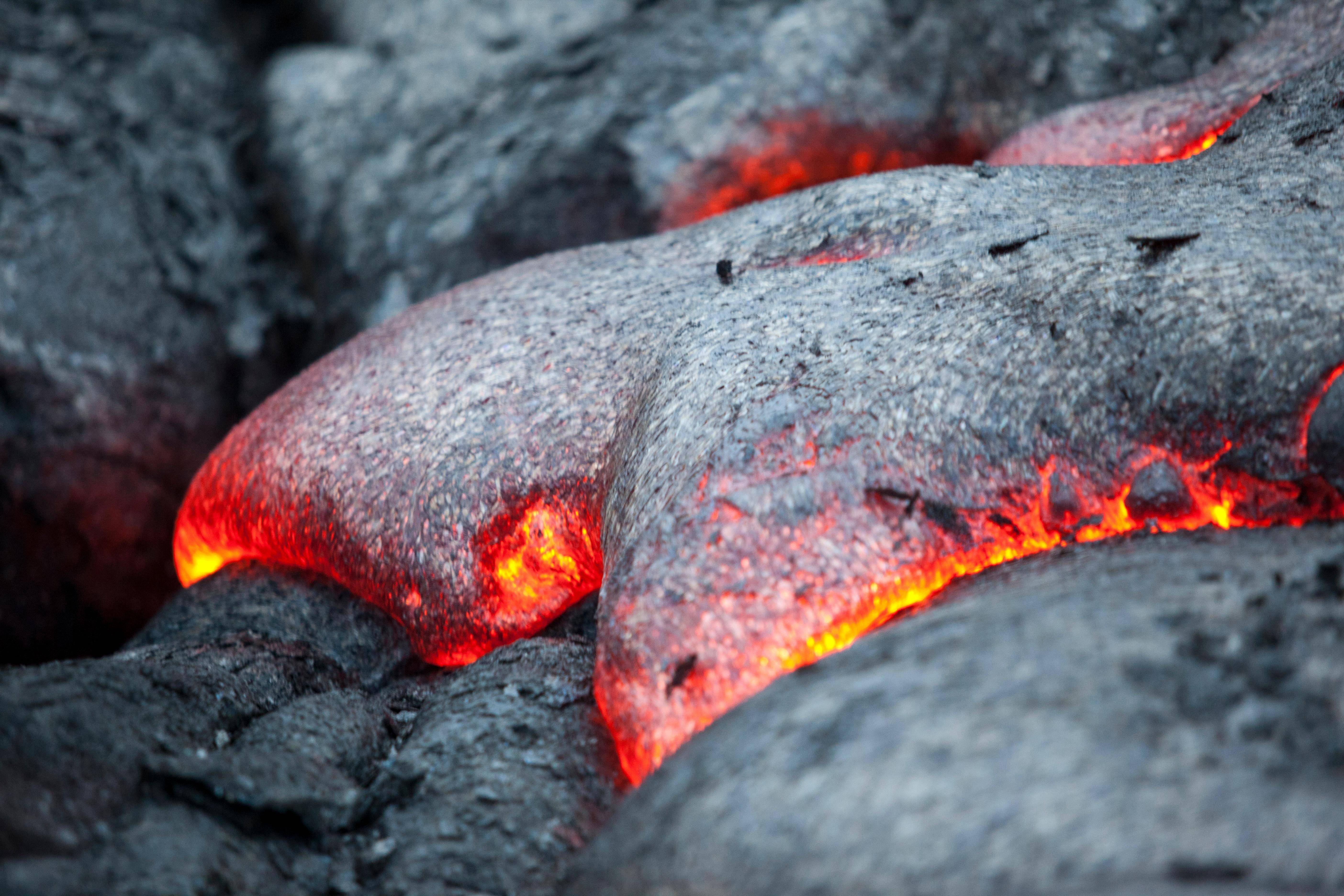 Wallpapers : lava, red, nature, rock 5616x3744