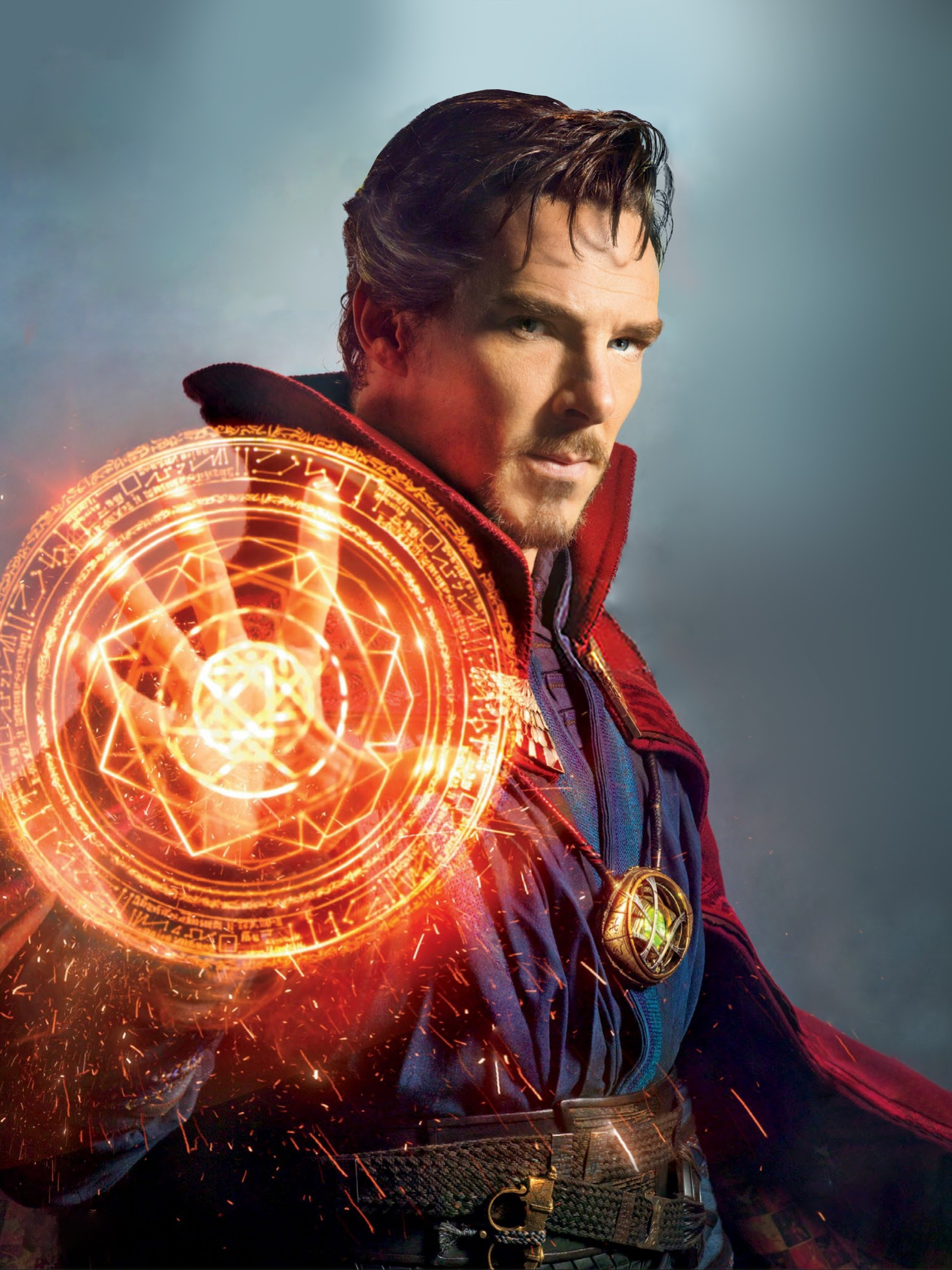 Download 2048x2732 Doctor Strange, Magic, Cape, Benedict Cumberbatch
