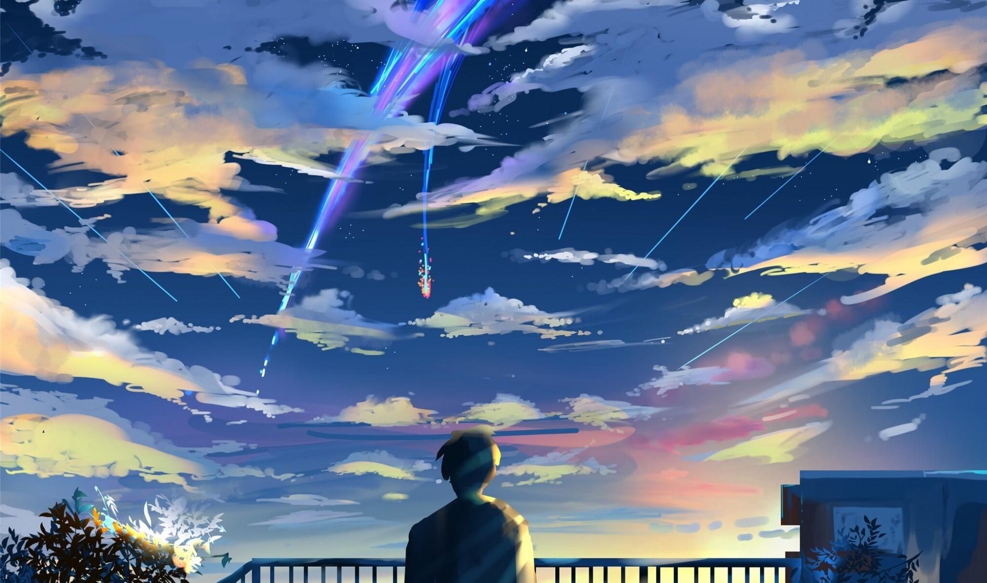 Download 2000x1181 Kimi No Na Wa, Taki Tachibana, Scenic, Your Name