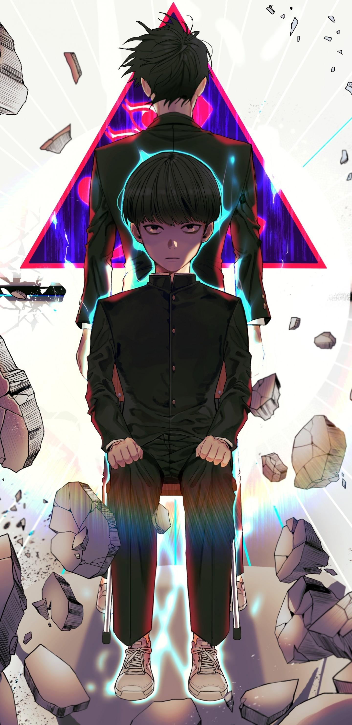 Download 1440x2960 Kageyama Shigeo, Mob Psycho 100, Stones