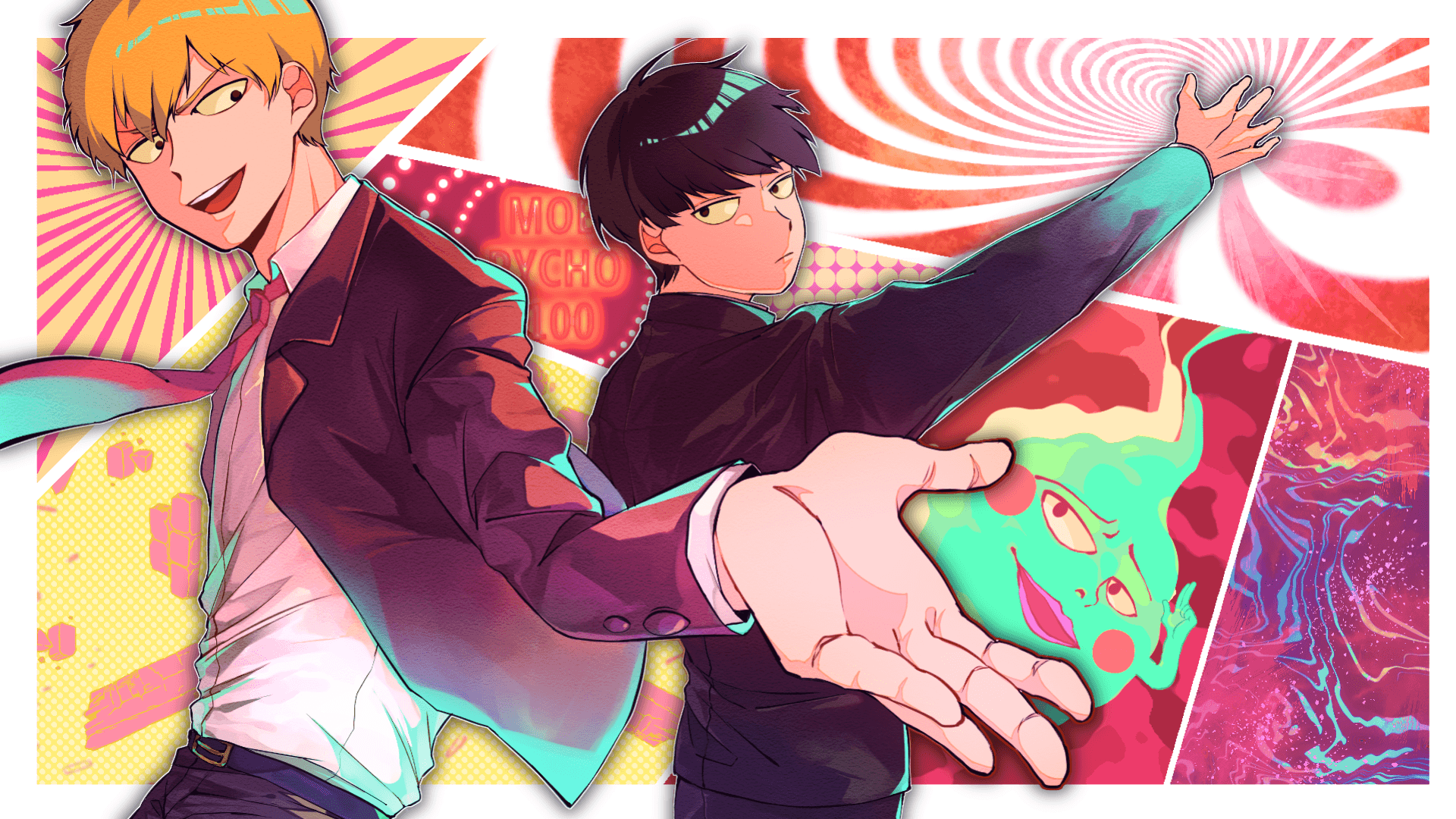 Arataka Reigen, Mob Psycho 100, Shigeo Kageyama HD Wallpapers