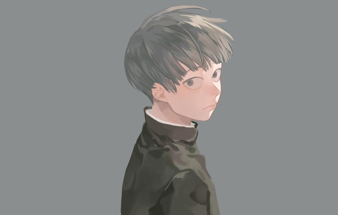 Wallpapers look, background, anime, art, guy, Mob Psycho 100