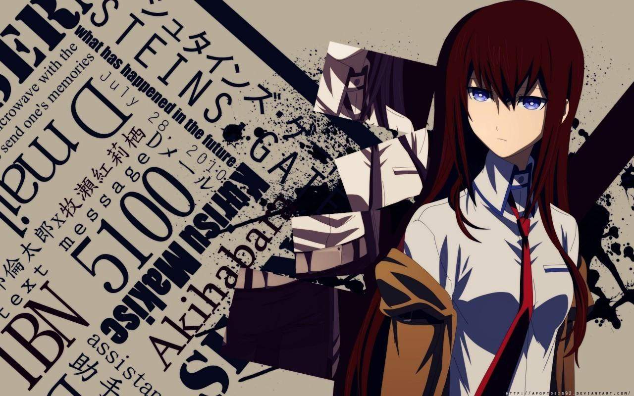 Download 1280x800 Steins Gate, Kurisu Makise, Blue Eyes Wallpapers