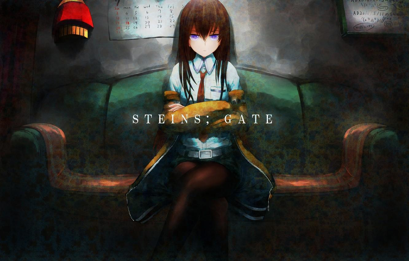 Wallpapers girl, anime, art, makise kurisu, steins;gate, sweeter 6