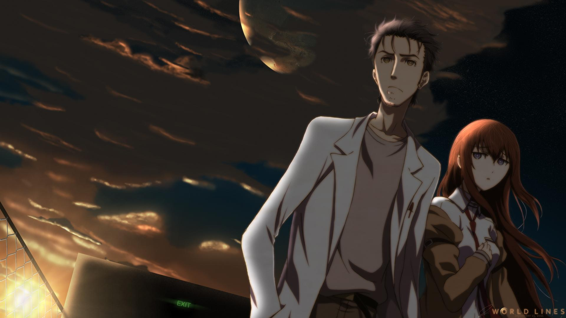 Okabe Rintarou image Okabe Rintarou and Makise Kurisu HD wallpapers