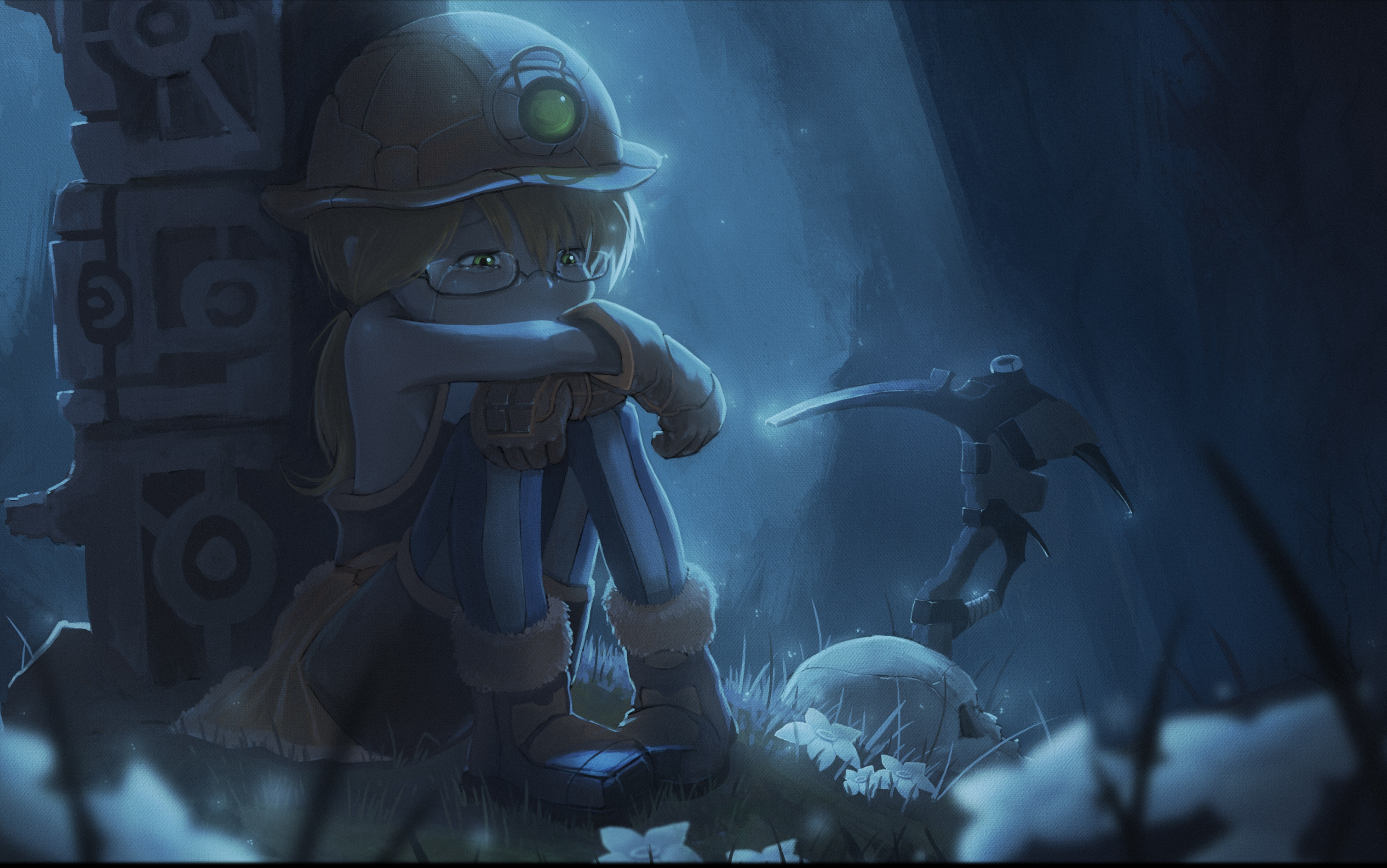 Wallpapers : Riko Made in Abyss, Made in Abyss, pickaxes, Miner
