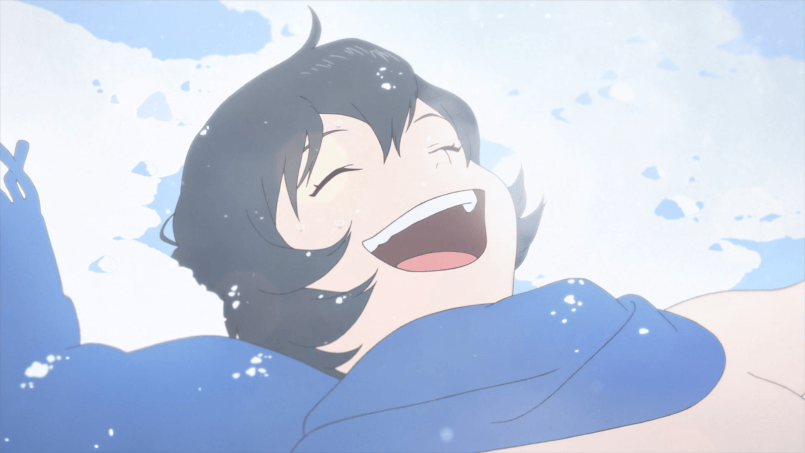 Ame smiling on snow