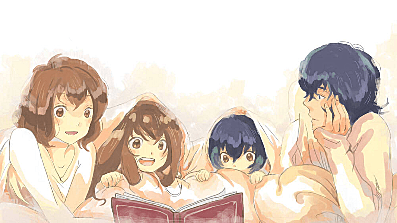 Wolf children family time! Wallpapers and Backgrounds Image