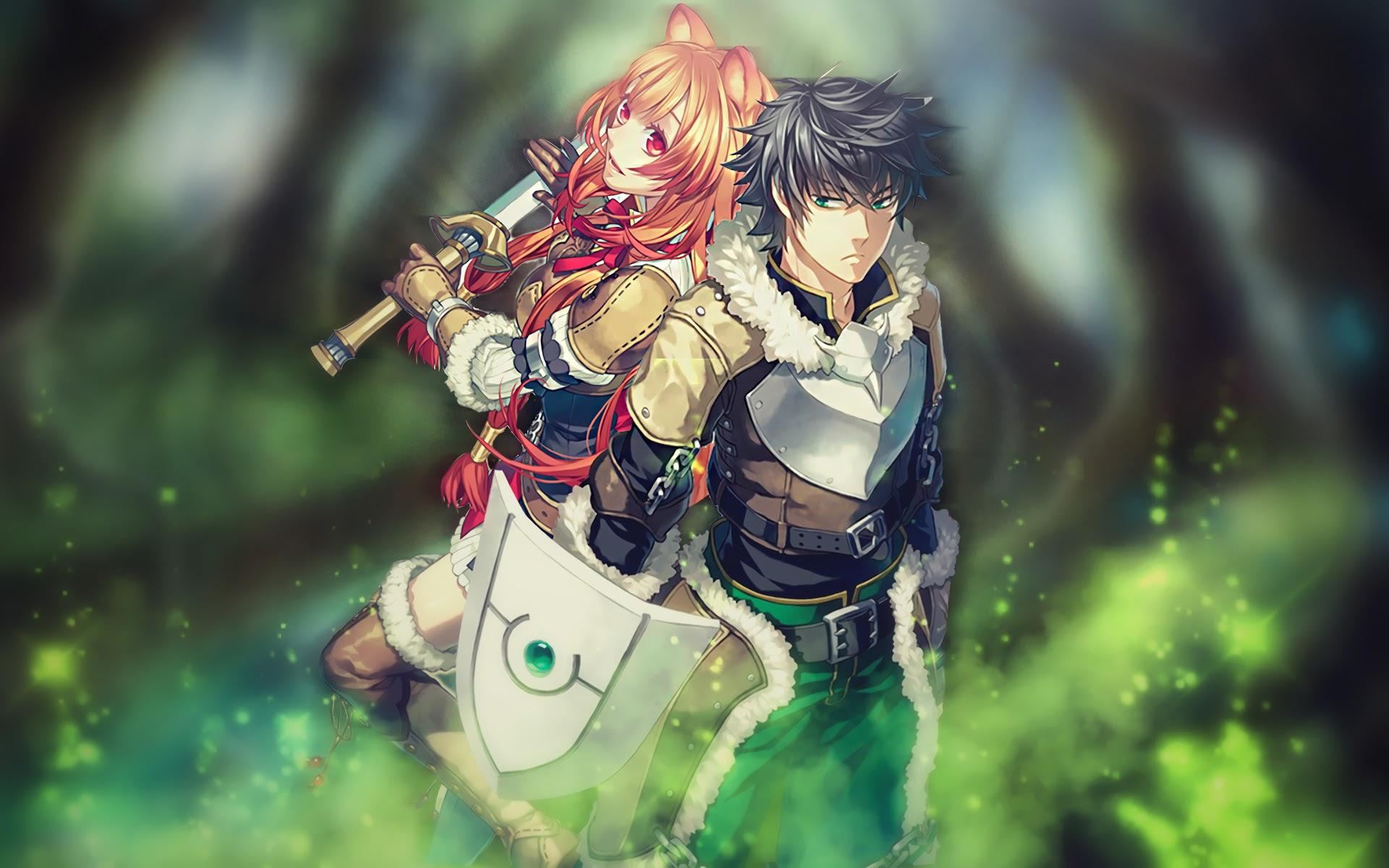 The Rising of the Shield Hero, Naofumi Iwatani, Raphtalia, 4K