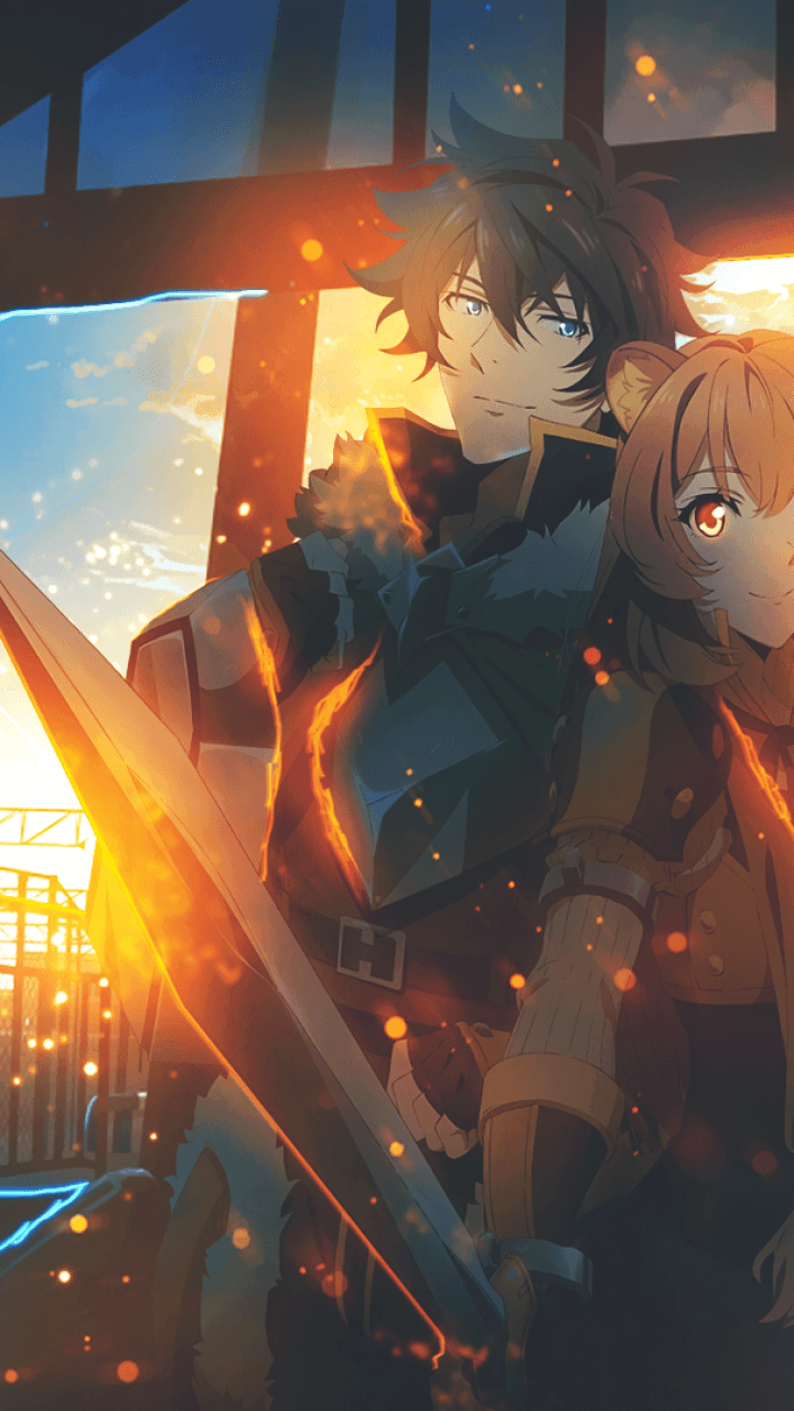 Download 720x1280 Iwatani Naofumi, Raphtalia, Anime Couple, Cute