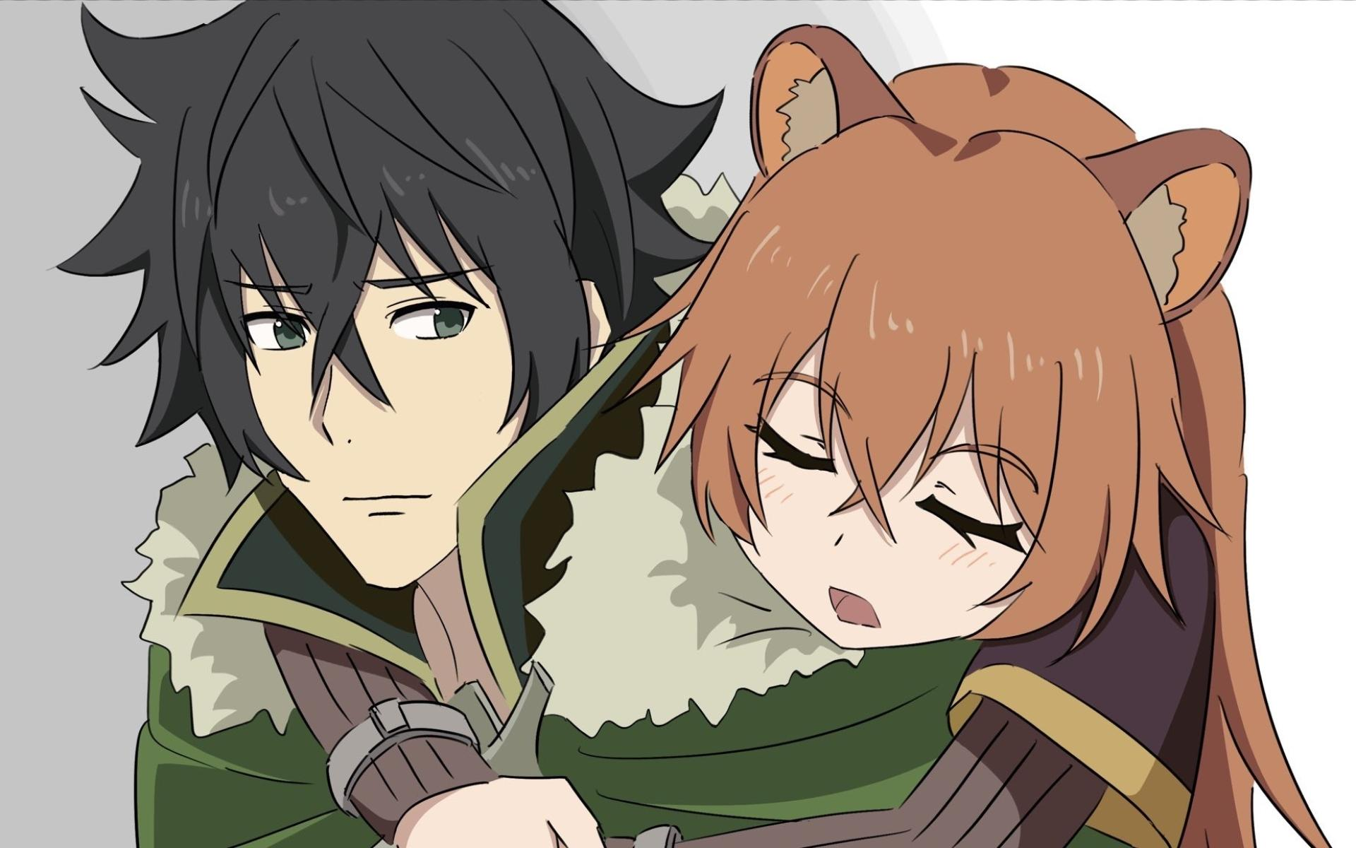 Wallpapers Anime, Sleep, Naofumi Iwatani, Raphtalia Desktop