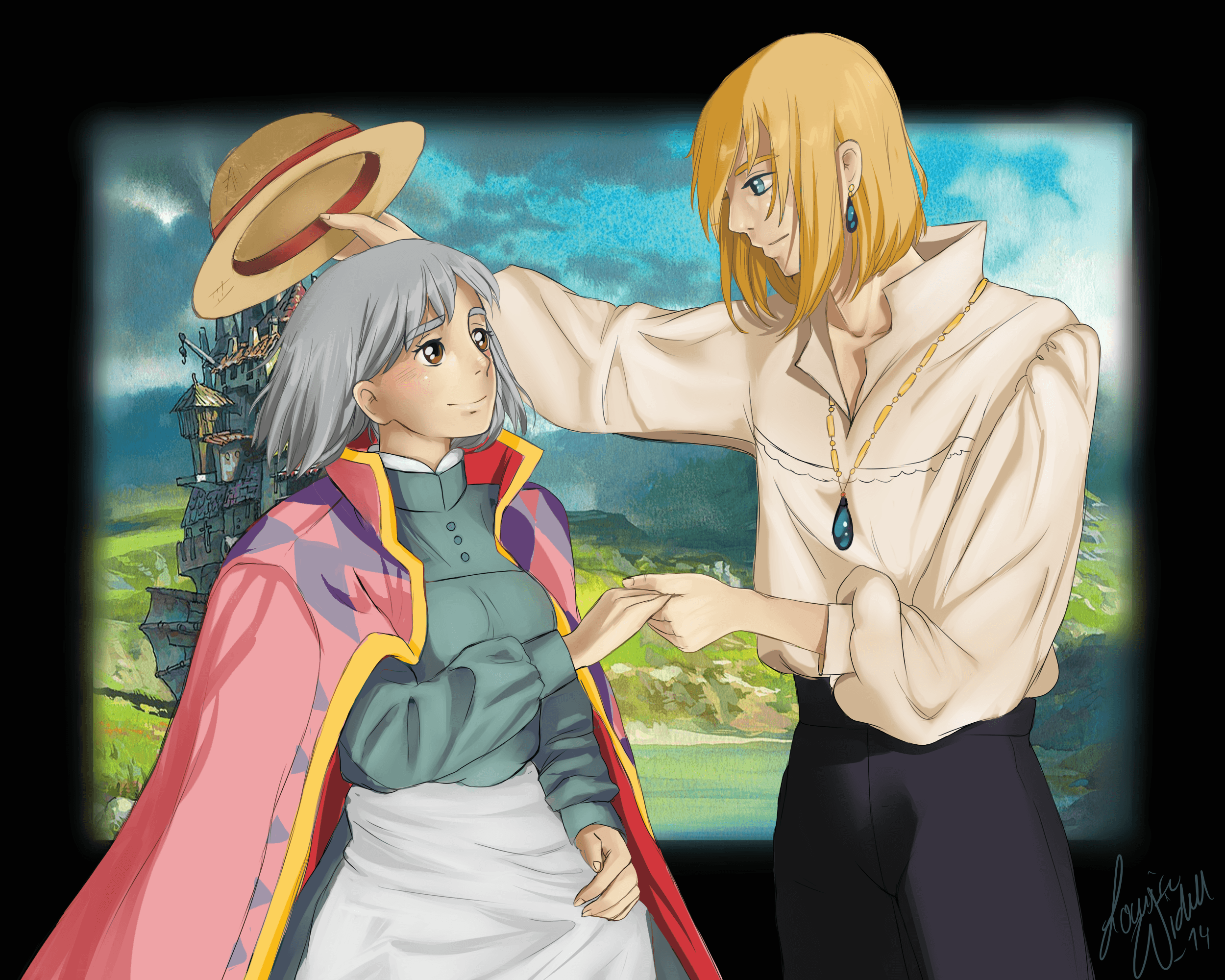 Howl's Moving Castle image Sophie and Howl HD wallpapers and