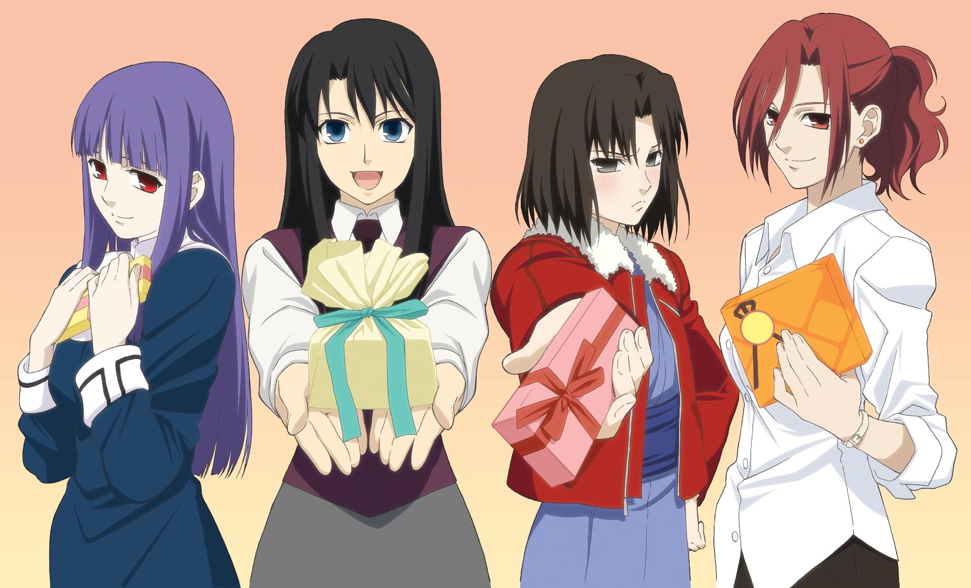 Wallpapers : Kara no Kyoukai, anime girls, Kokutou Azaka, Ryougi