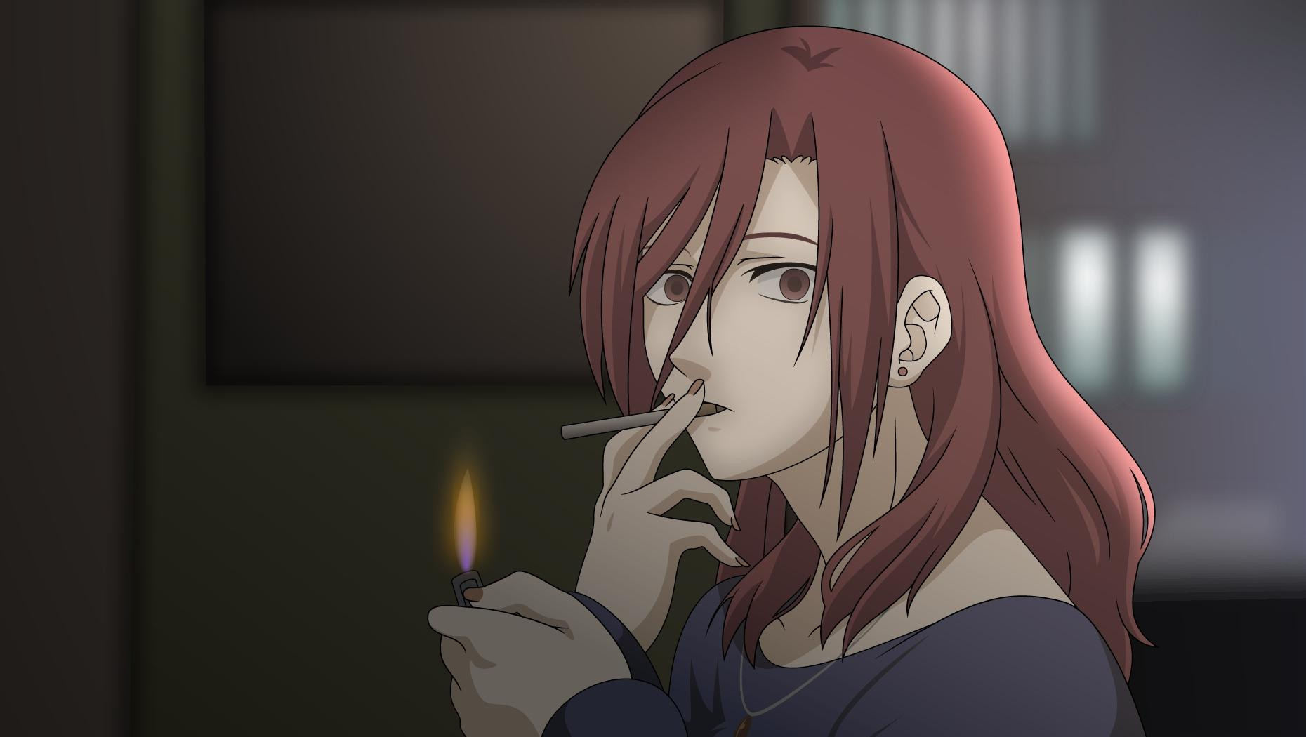 kara no kyoukai cigarettes aozaki touko High Quality Wallpapers,High