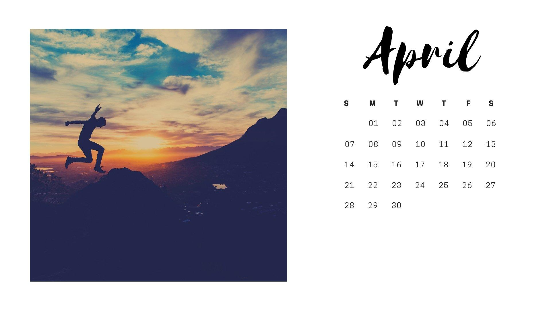 April 2019 Calendar Wallpapers Wallpaper Cave