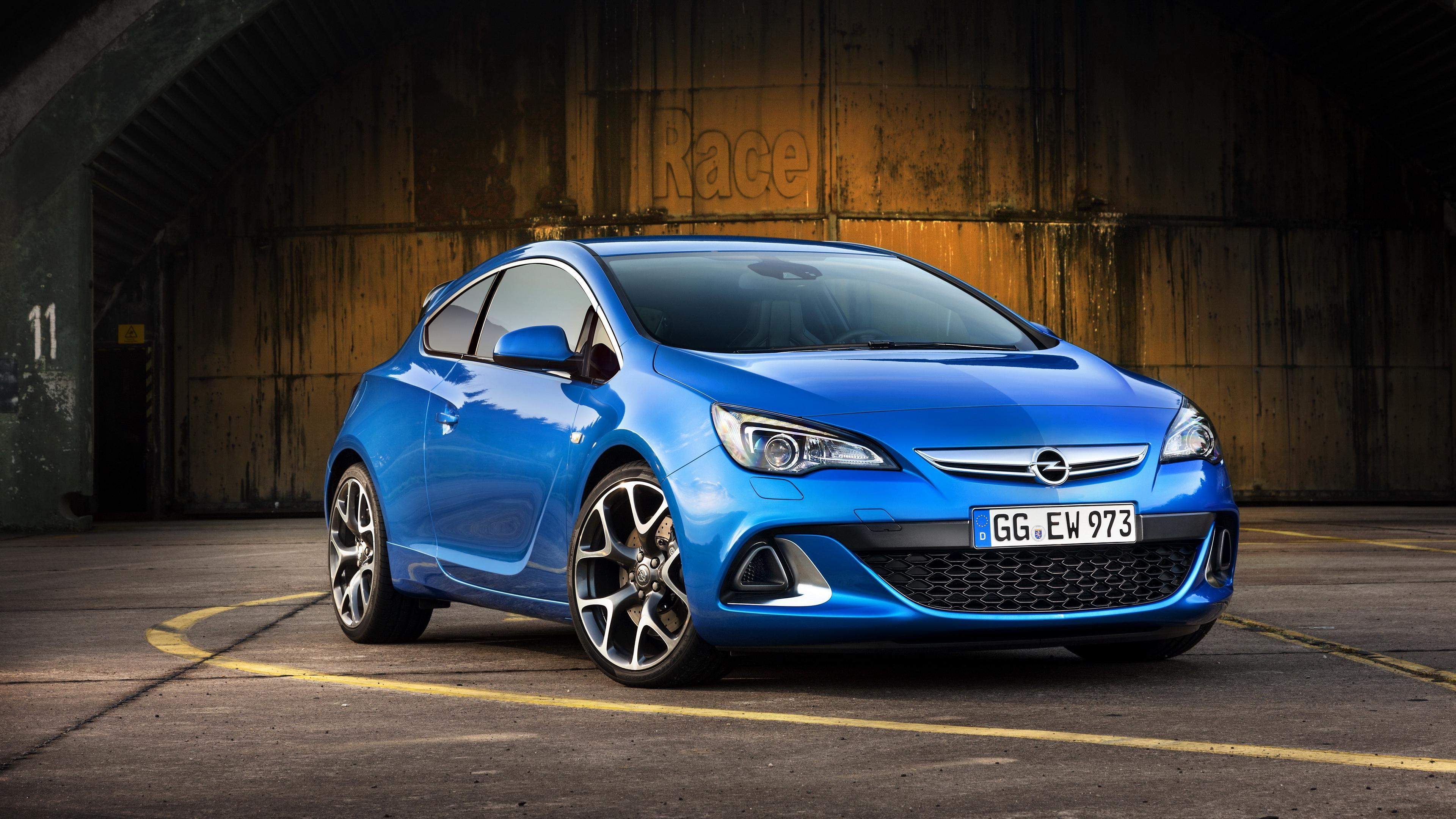 Download wallpapers 3840x2160 opel, astra, side view, blue 4k uhd 16