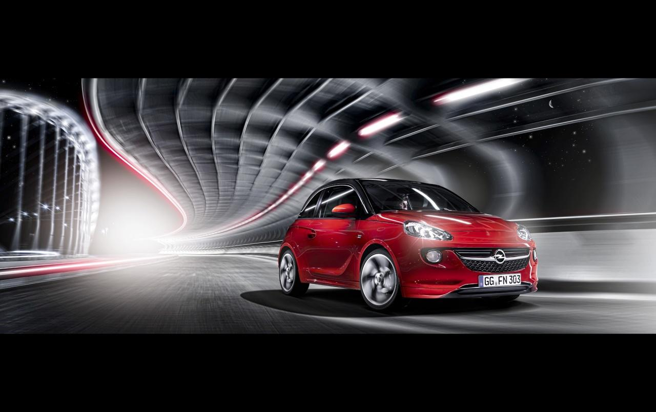 2013 Opel ADAM Red Front Motion wallpapers