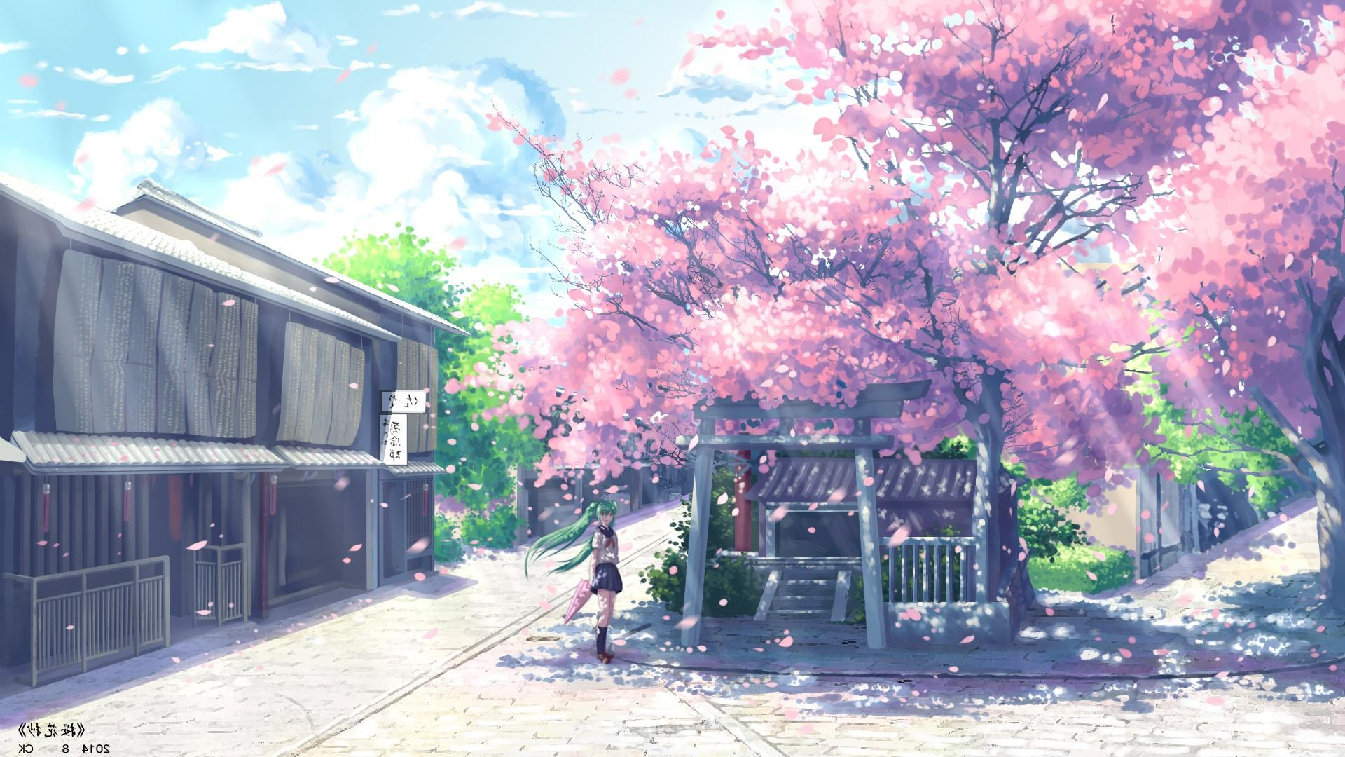 Anime Cherry Blossom Wallpapers