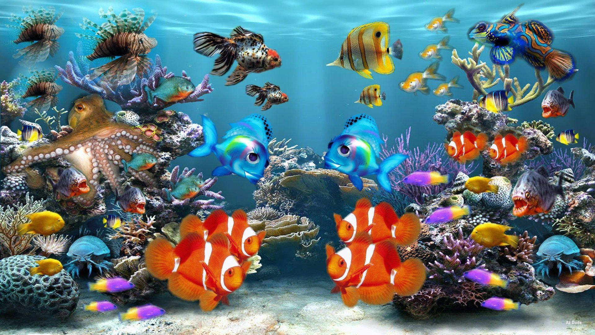 Live aquarium wallpapers Group