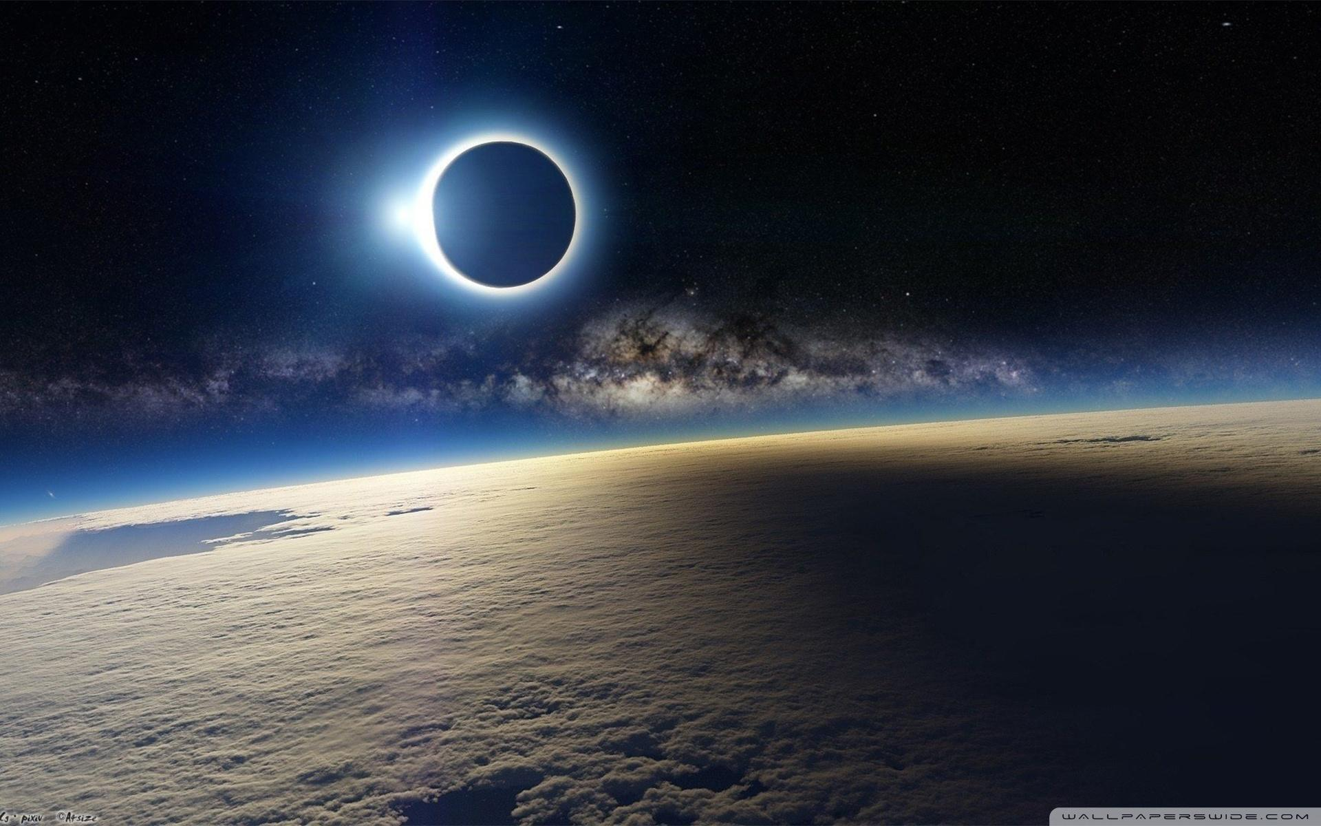 Solar Eclipse from Space ❤ 4K HD Desktop Wallpapers for 4K Ultra HD TV