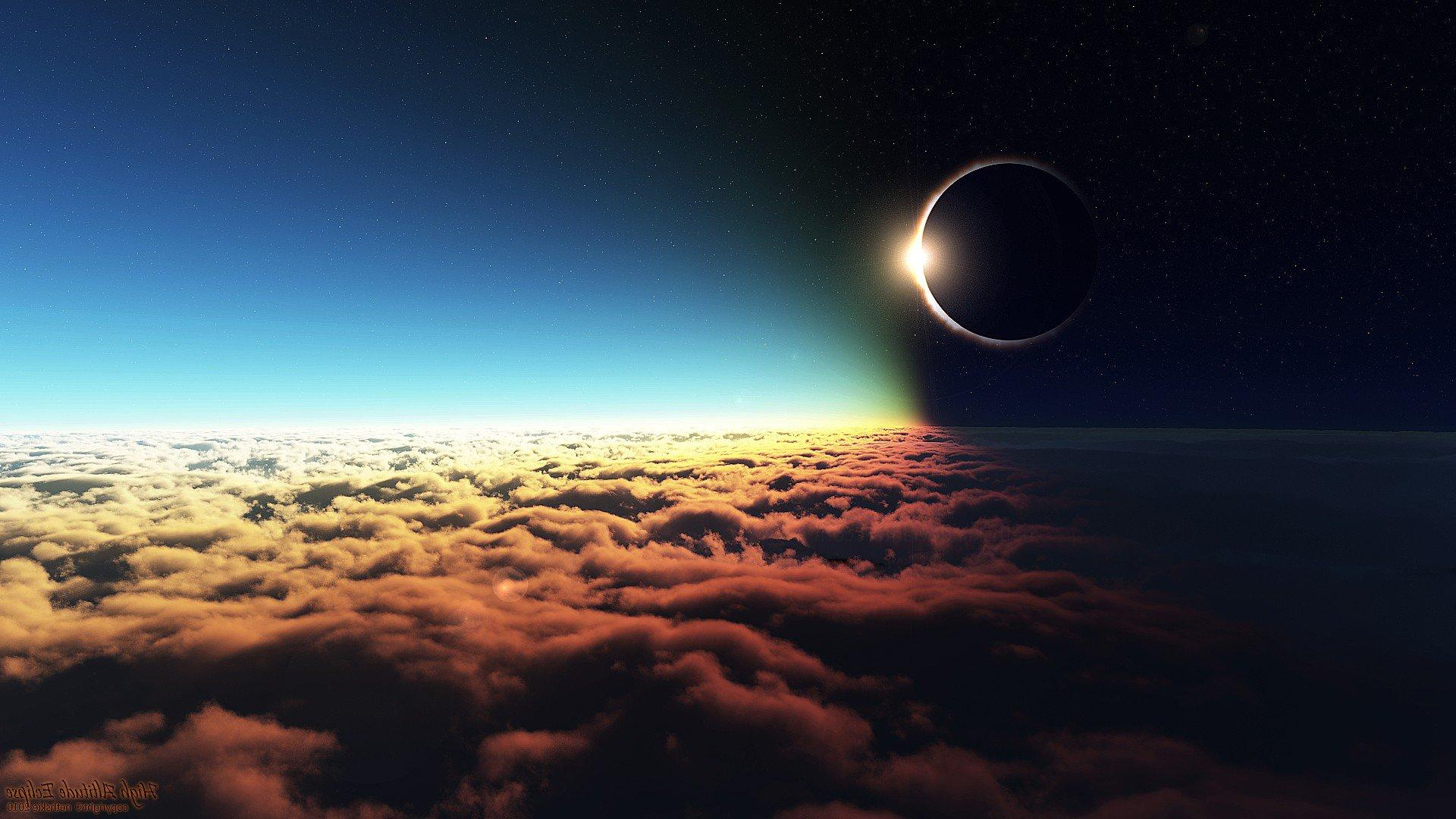 Eclipse Altitude, HD Digital Universe, 4k Wallpapers, Image