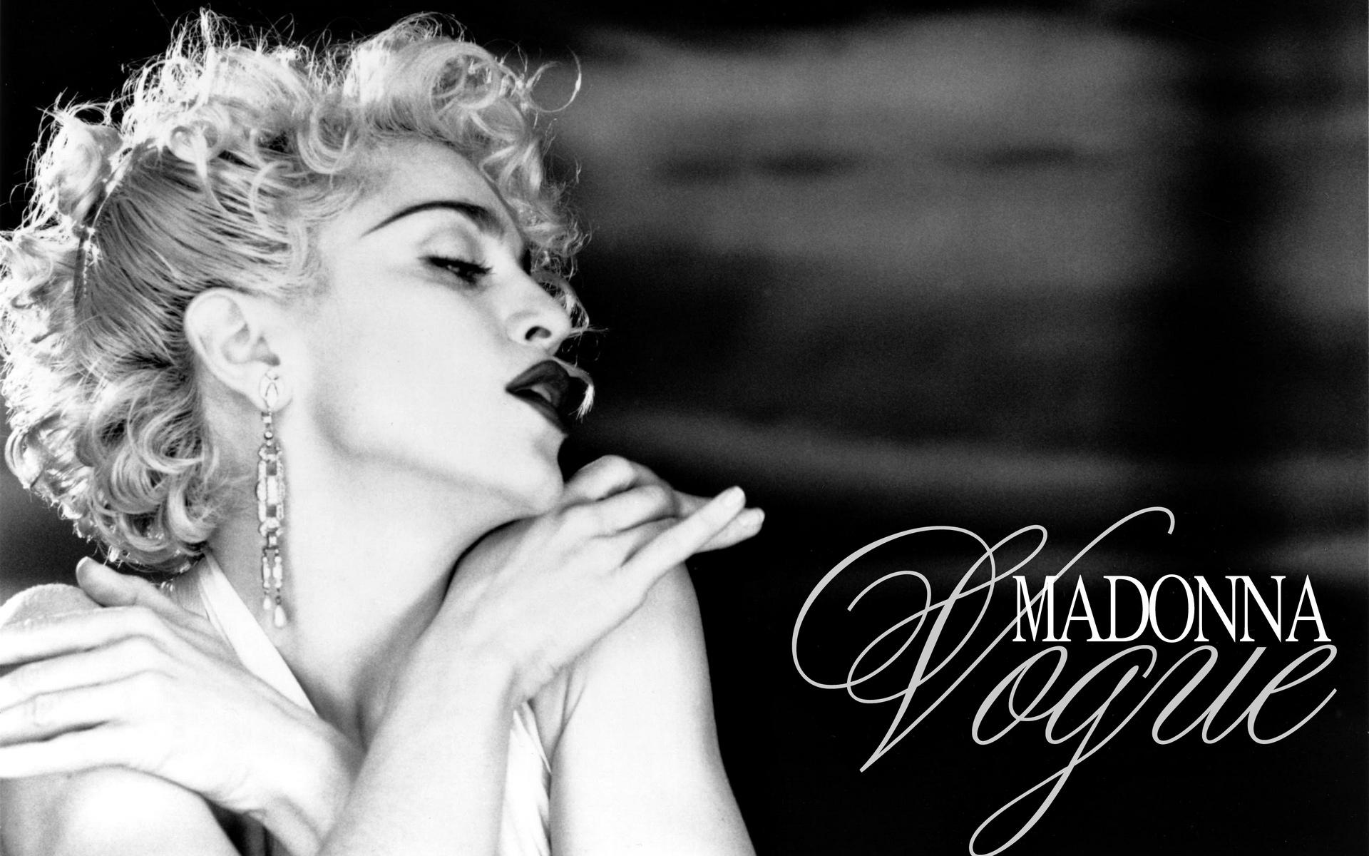 Madonna Vogue Black and White Photo Picture Hollywood Girl Singer HD