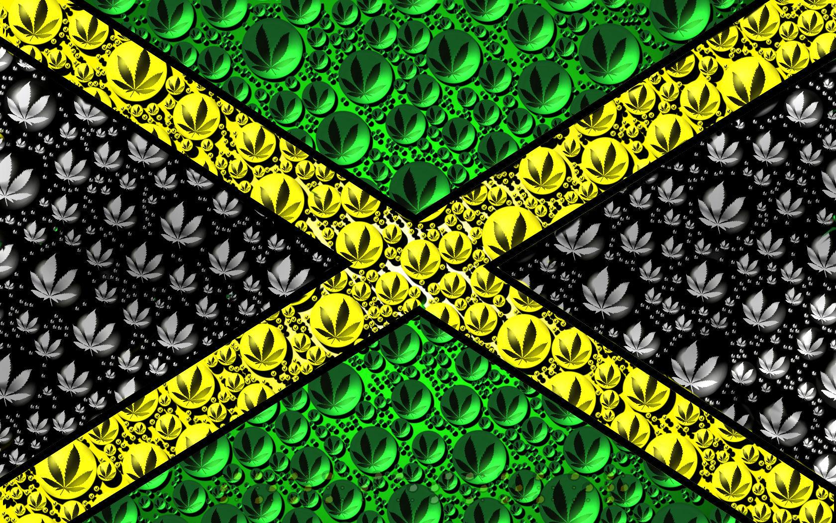 Jamaican flag from cannabis