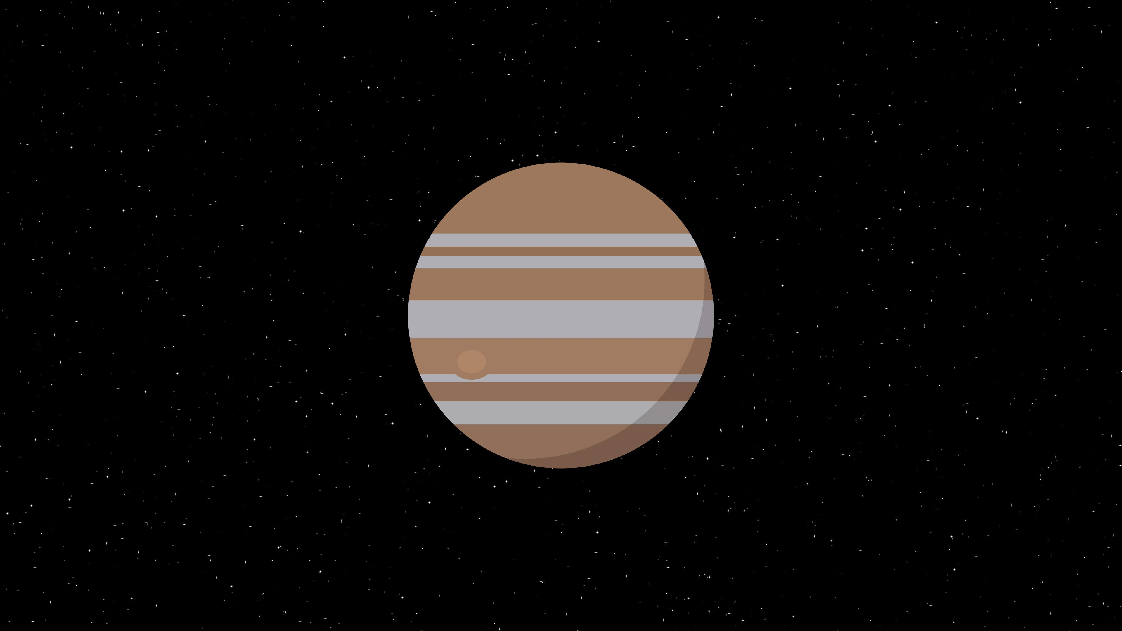 Jupiter Planet Minimalism 4k, HD Artist, 4k Wallpapers, Image
