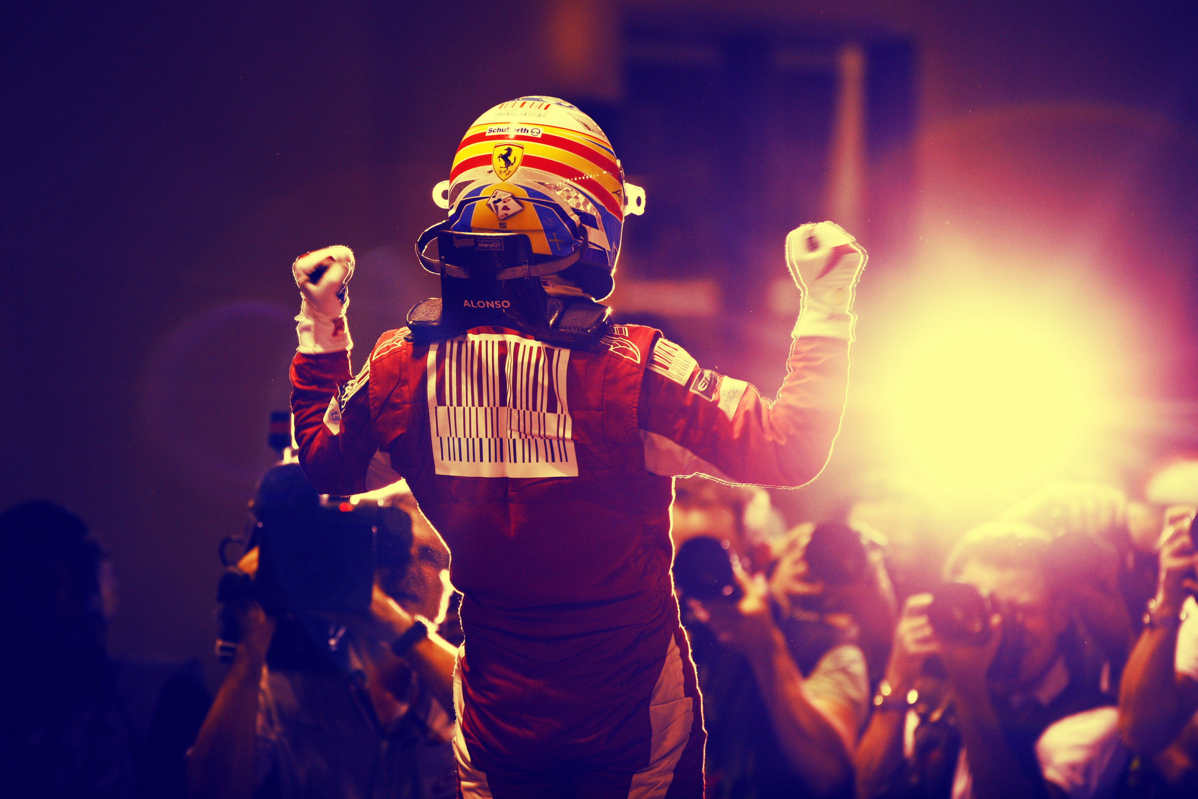 Ferrari, Singapore, Formula One, victory, Fernando Alonso :: Wallpapers