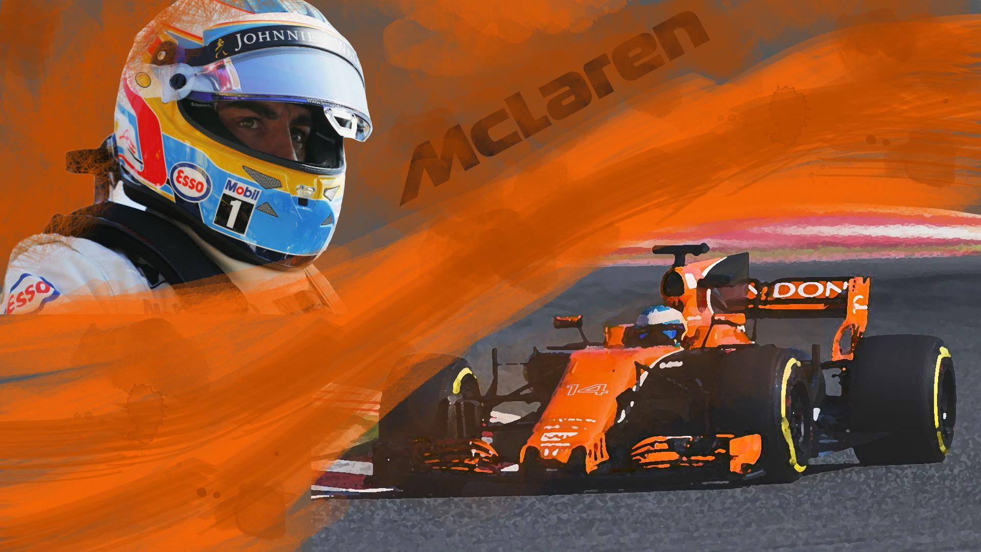OC] Fernando Alonso Wallpaper : formula1