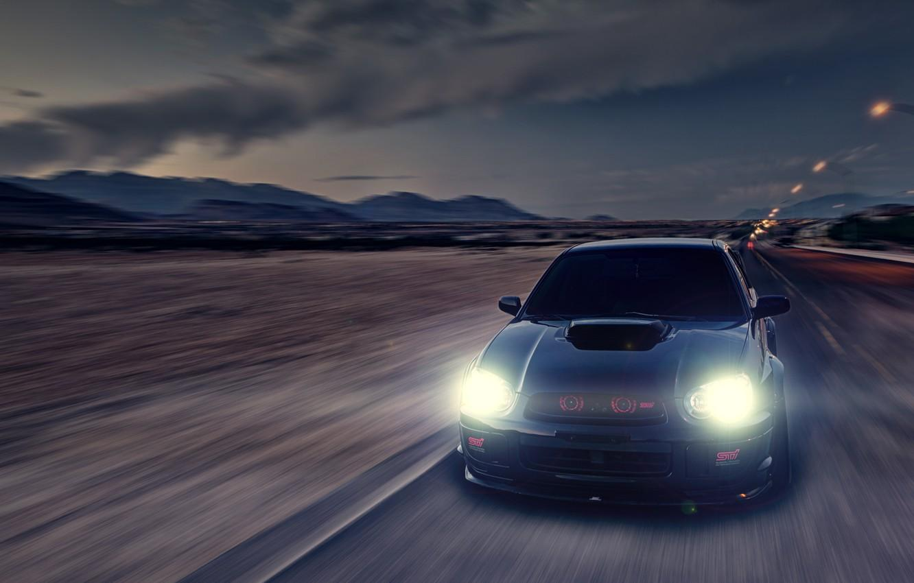 Wallpaper glare, speed, Subaru, Impreza, blur, black, WRX, black ...