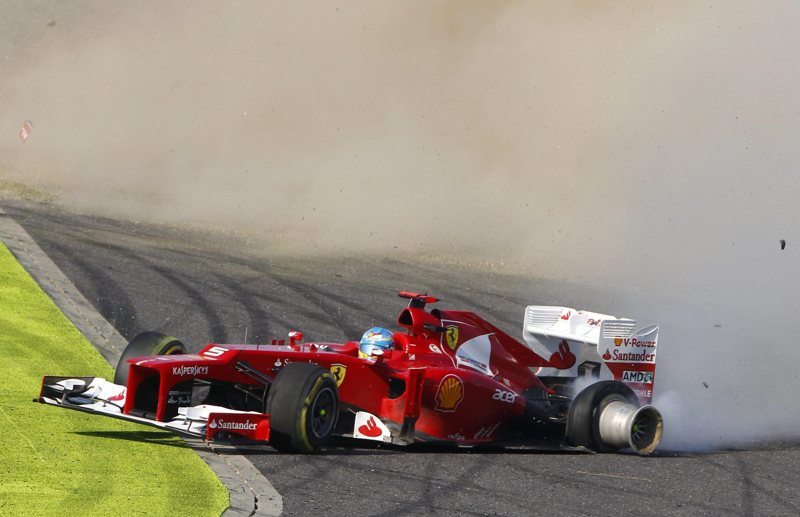 cars, Ferrari, crash, Formula One, Fernando Alonso, alonso, Grand ...