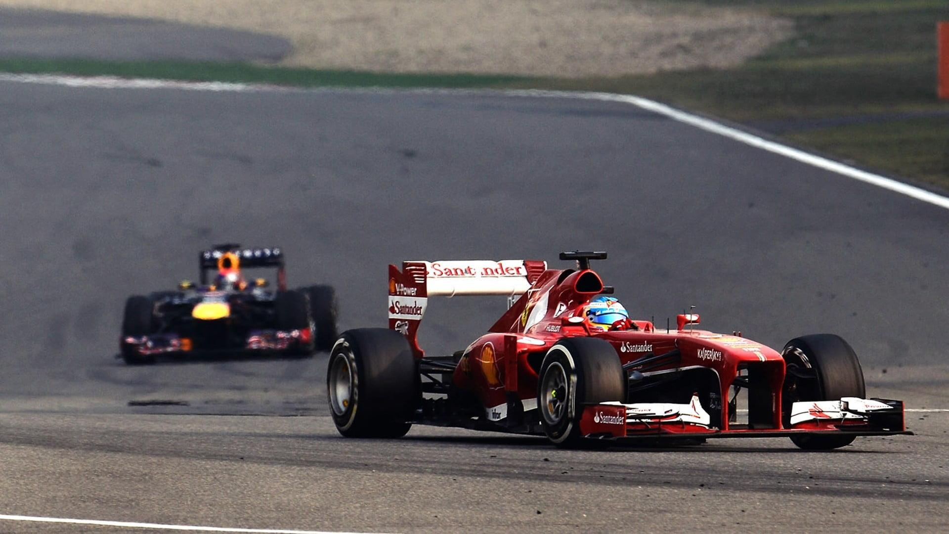 Red racing car, Fernando Alonso, Ferrari, Formula 1, Scuderia ...