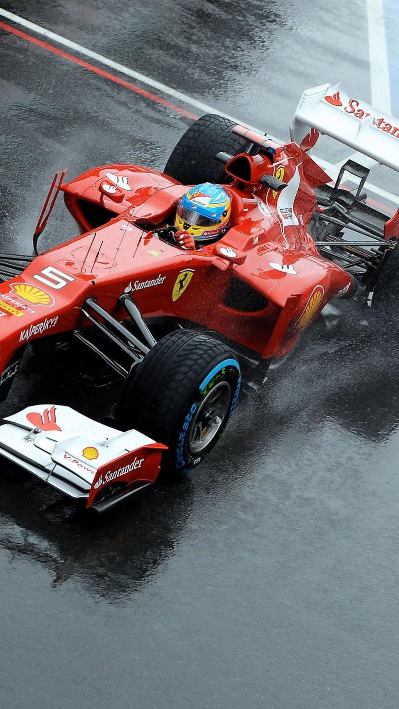 Download wallpaper 800x1420 ferrari, fernando alonso, formula-1 ...