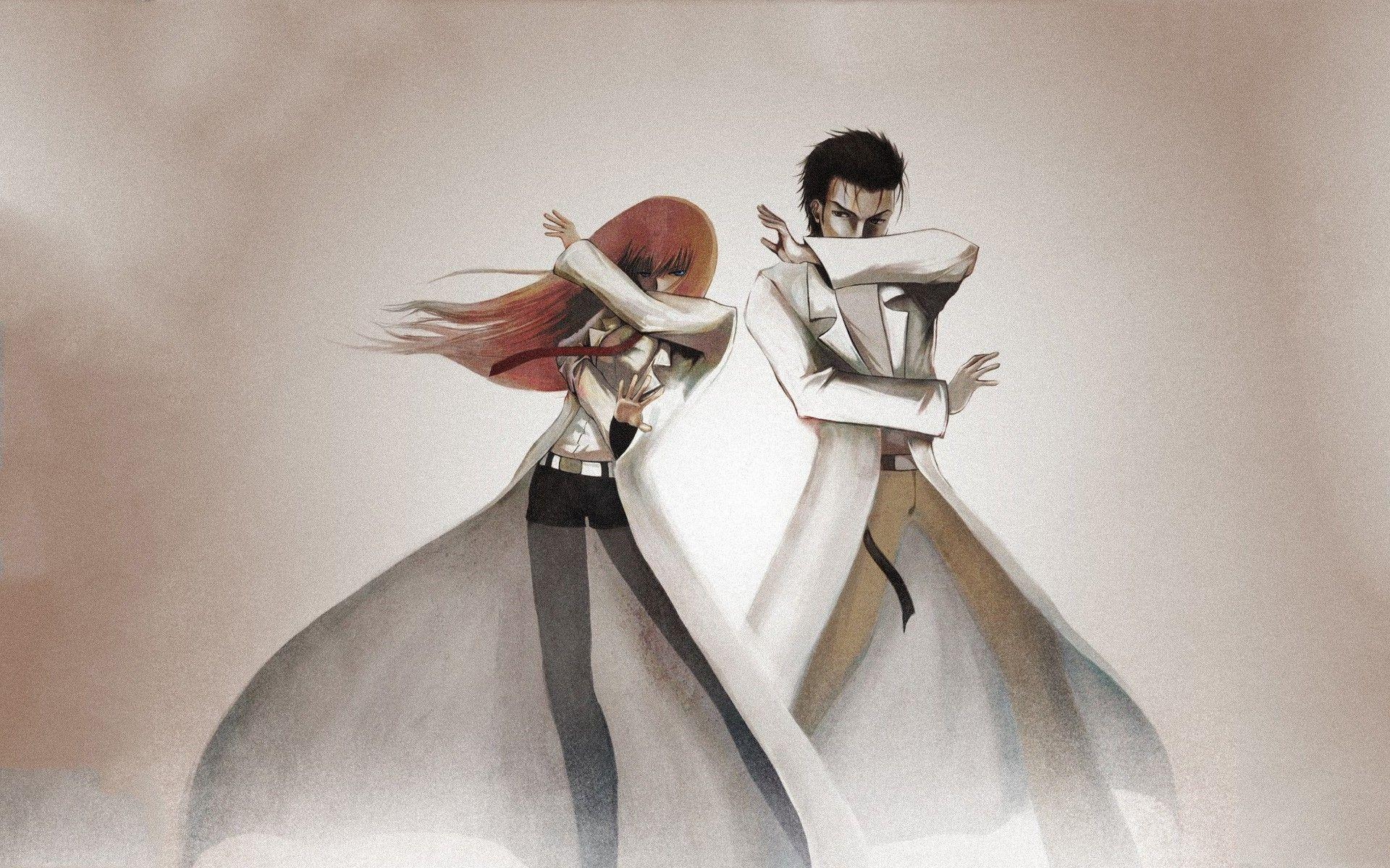 anime, Okabe Rintarou, Makise Kurisu, Lab Coats... | Steins;Gate ...