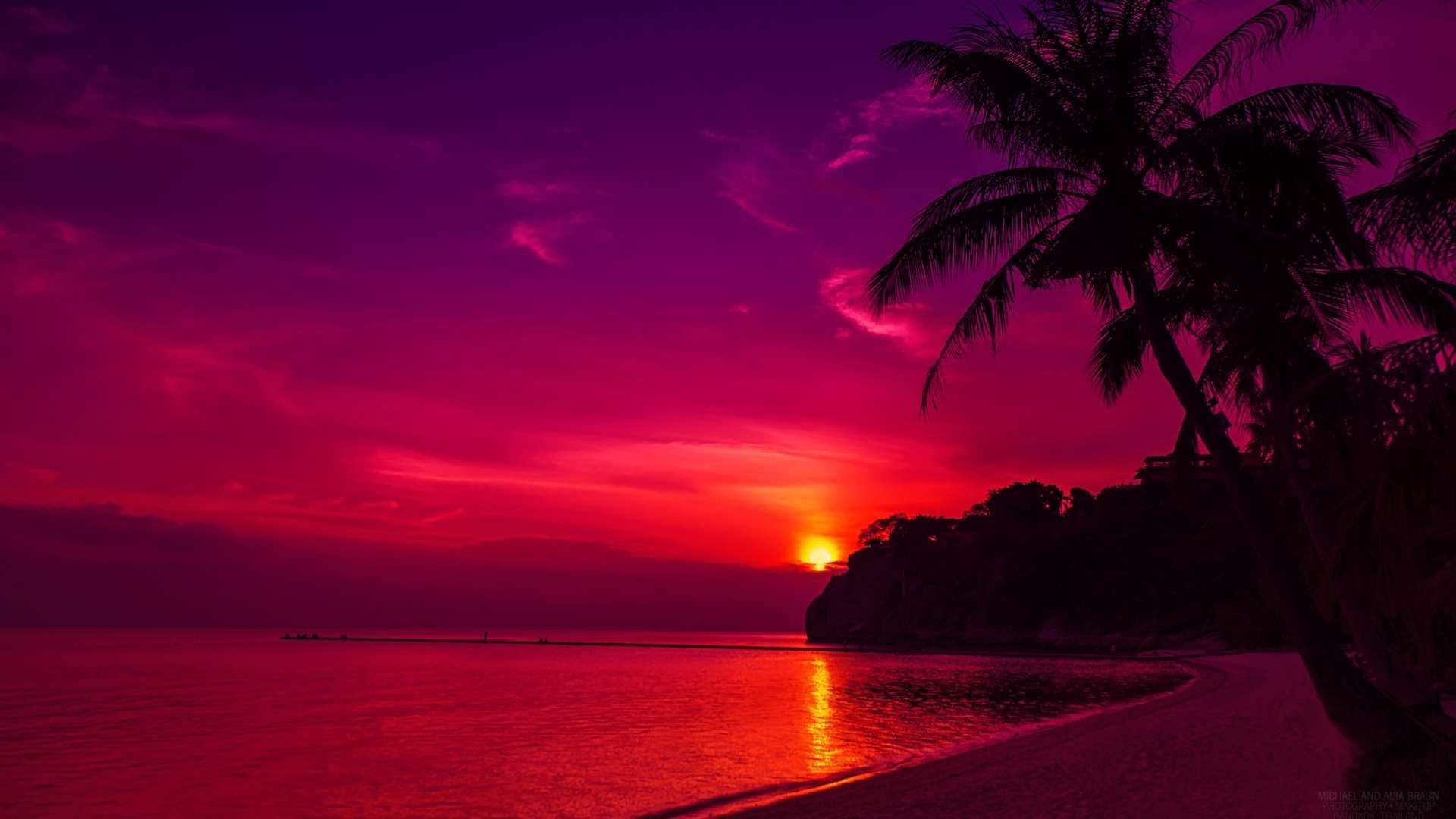 Sunset Beaches Wallpapers Wallpapers 1920x1080