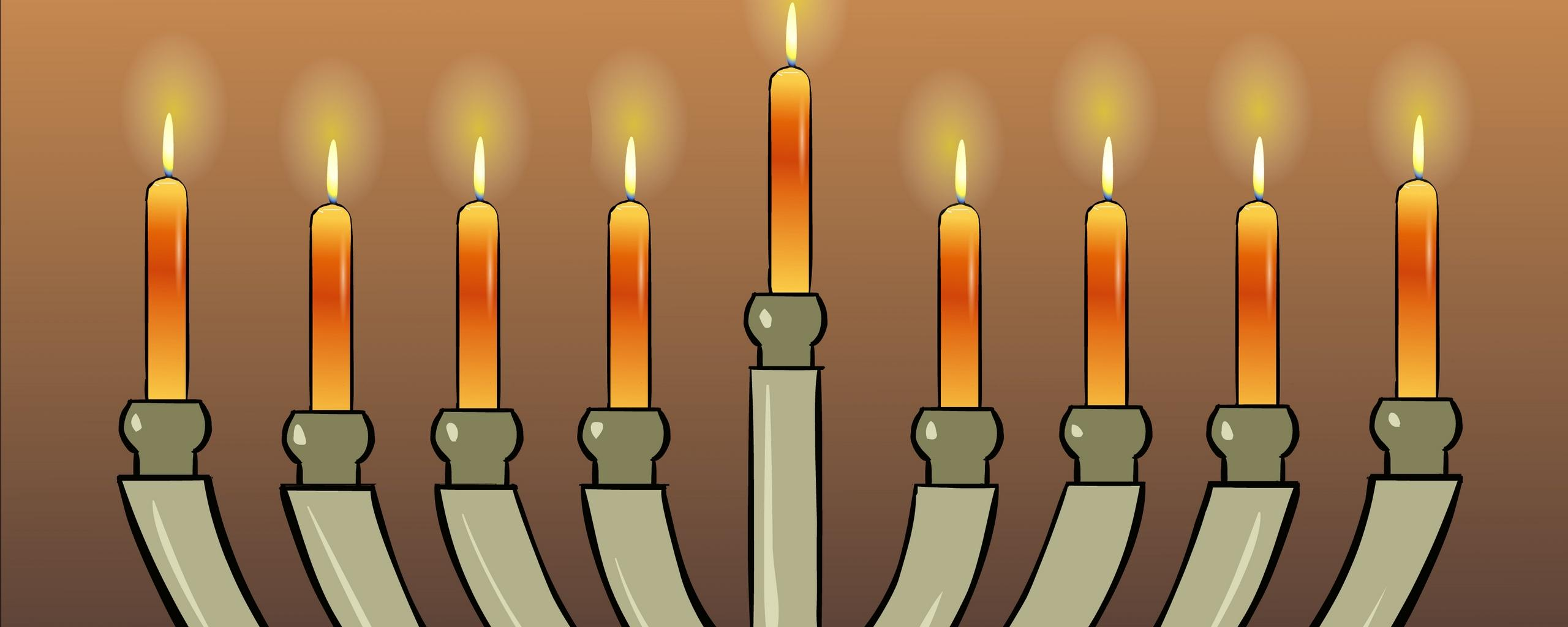 Download wallpapers 2560x1024 hanukkah, jewish holiday, 2014