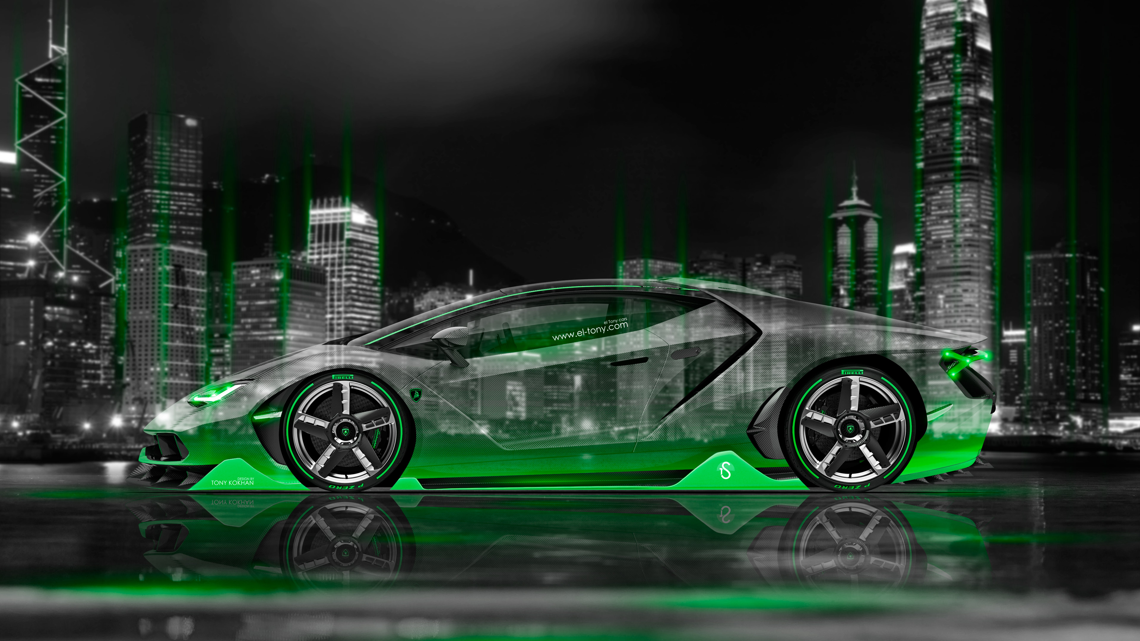 Pink And Green Lambo Wallpapers Wallpaper Cave