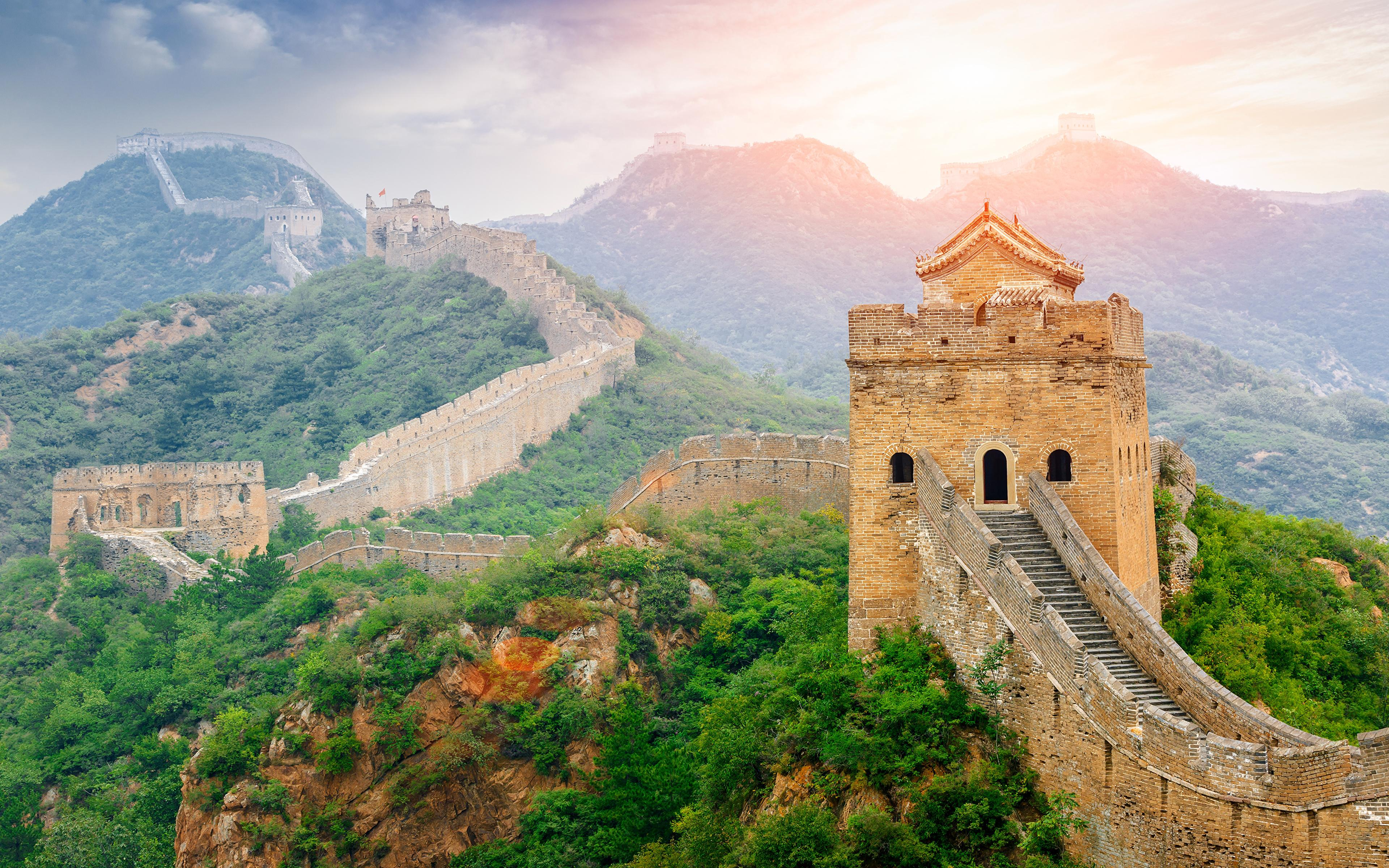 Wallpapers China Nature Mountains The Great Wall of China 3840x2400