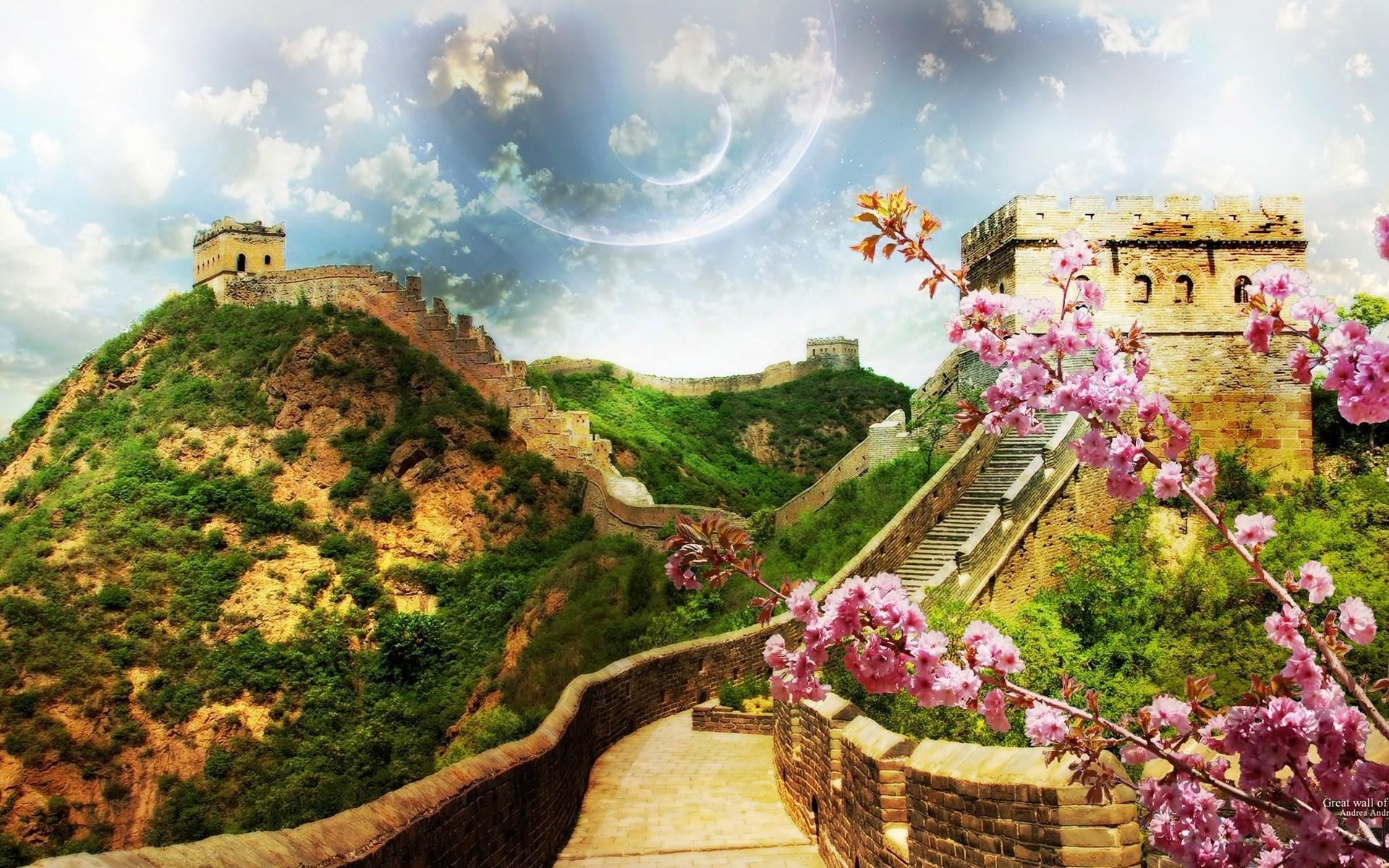 1920x1200 px great wall of china wallpaper: Wallpapers Collection by