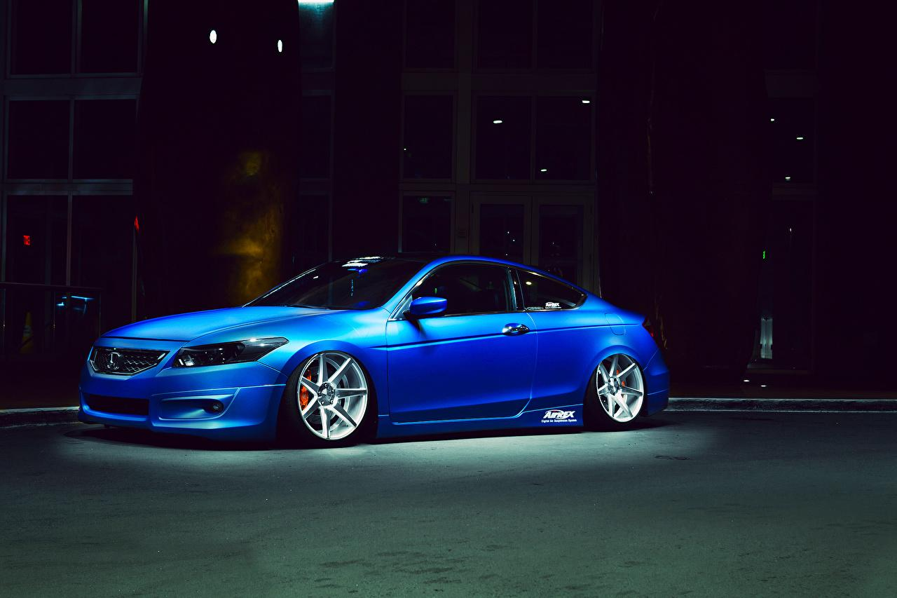 Wallpapers Honda Accord Blue Side automobile
