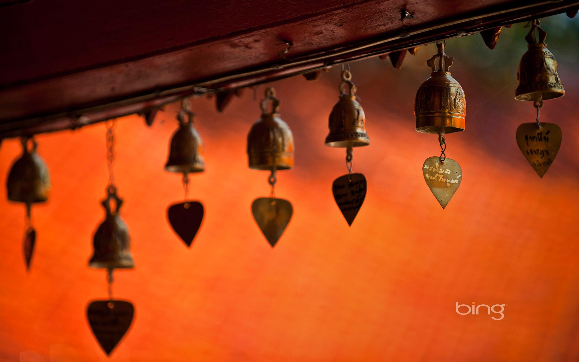 Temple bells and chimes, Chiang Mai, Thailand